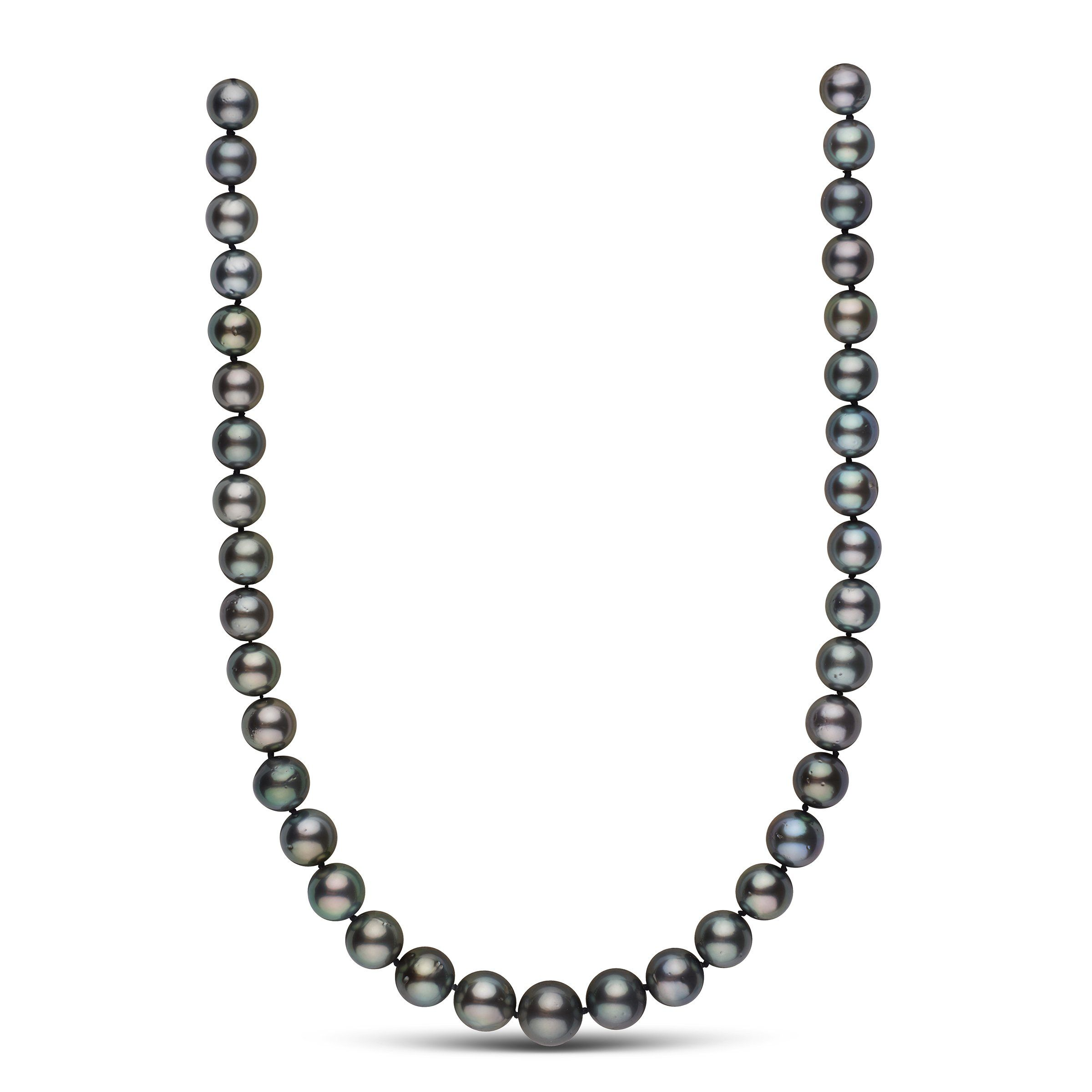 9.9-13.0 mm AA+ Tahitian Round Pearl Necklace