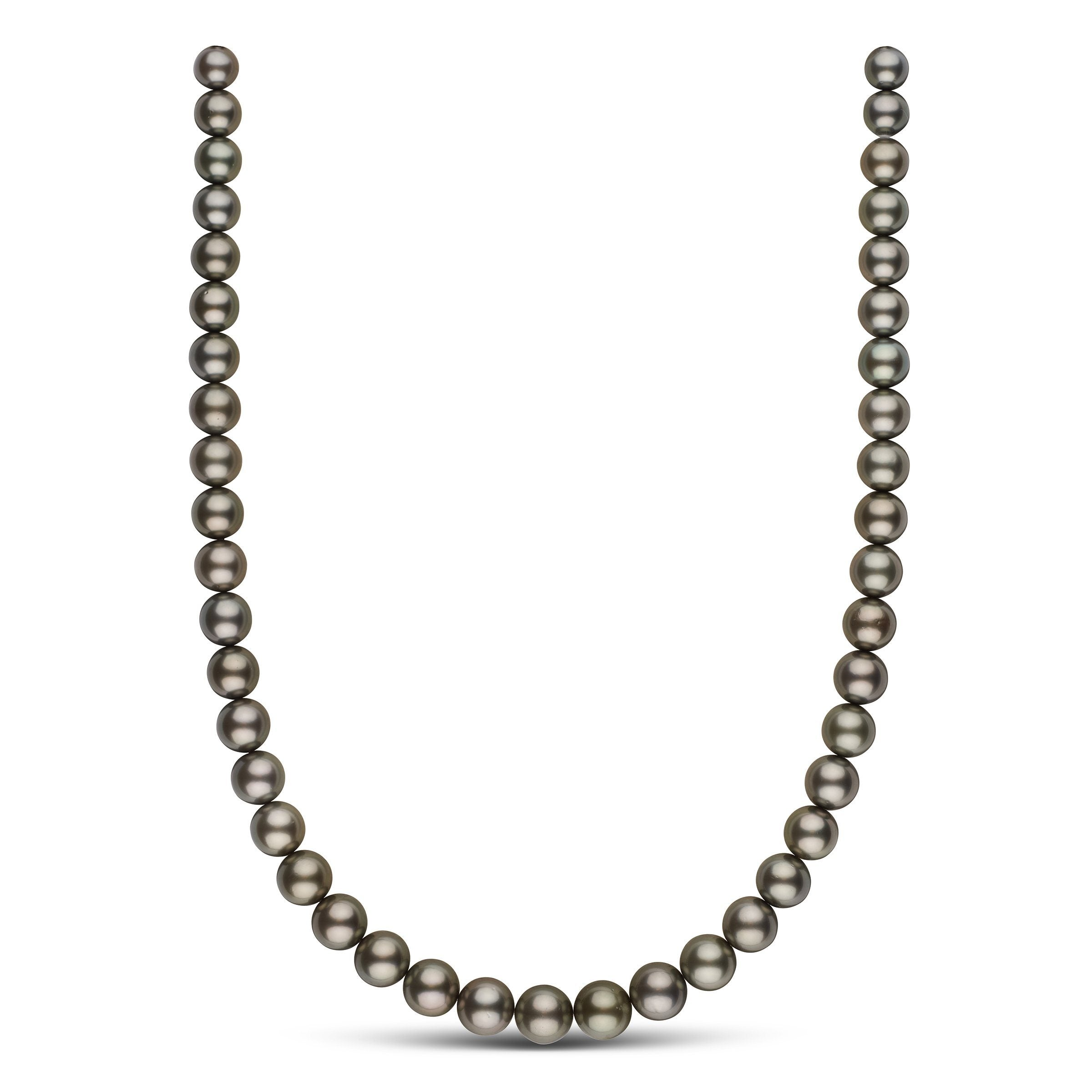 8.0-10.6 mm AAA Tahitian Round Pearl Necklace