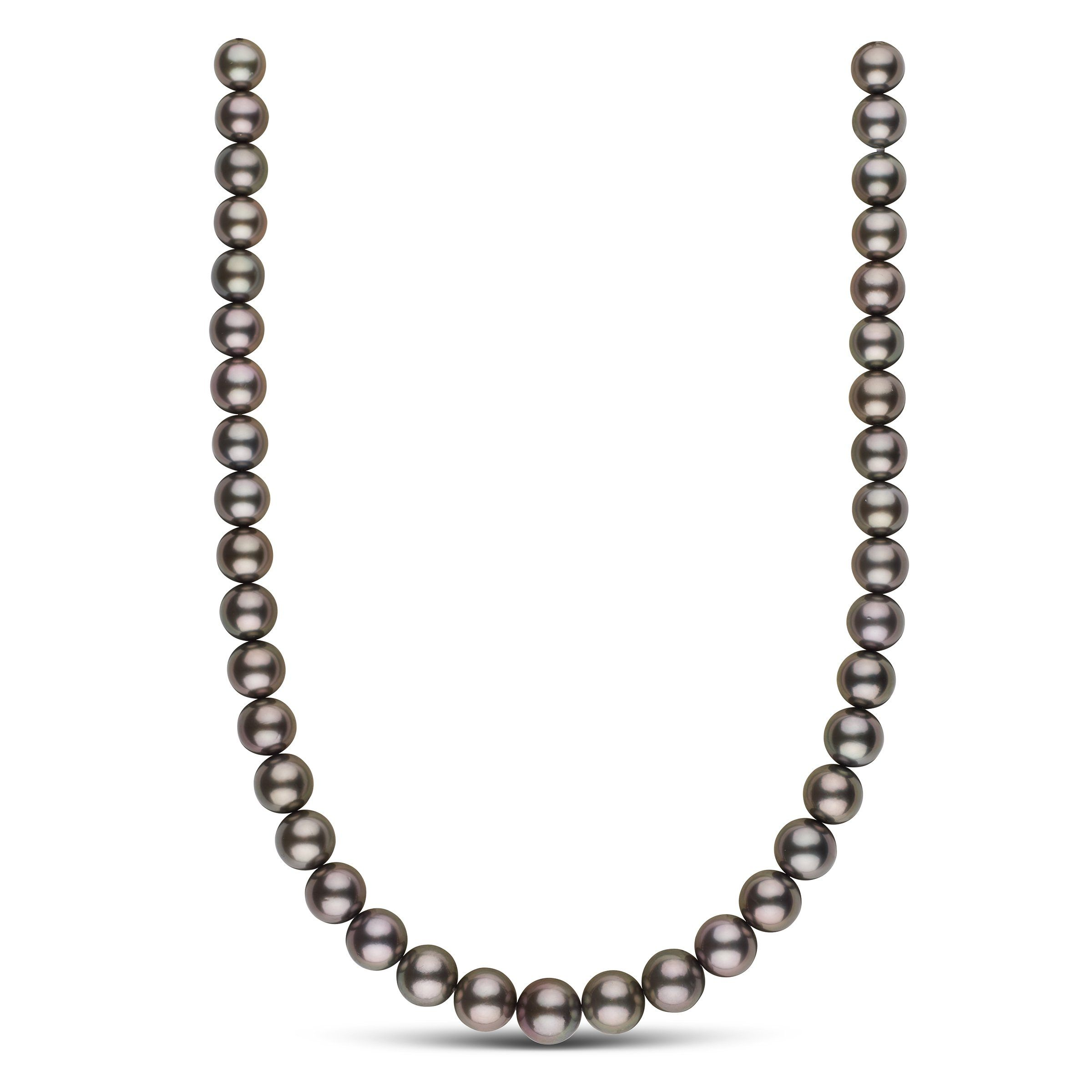 10.0-12.3 mm AAA Tahitian Round Pearl Necklace