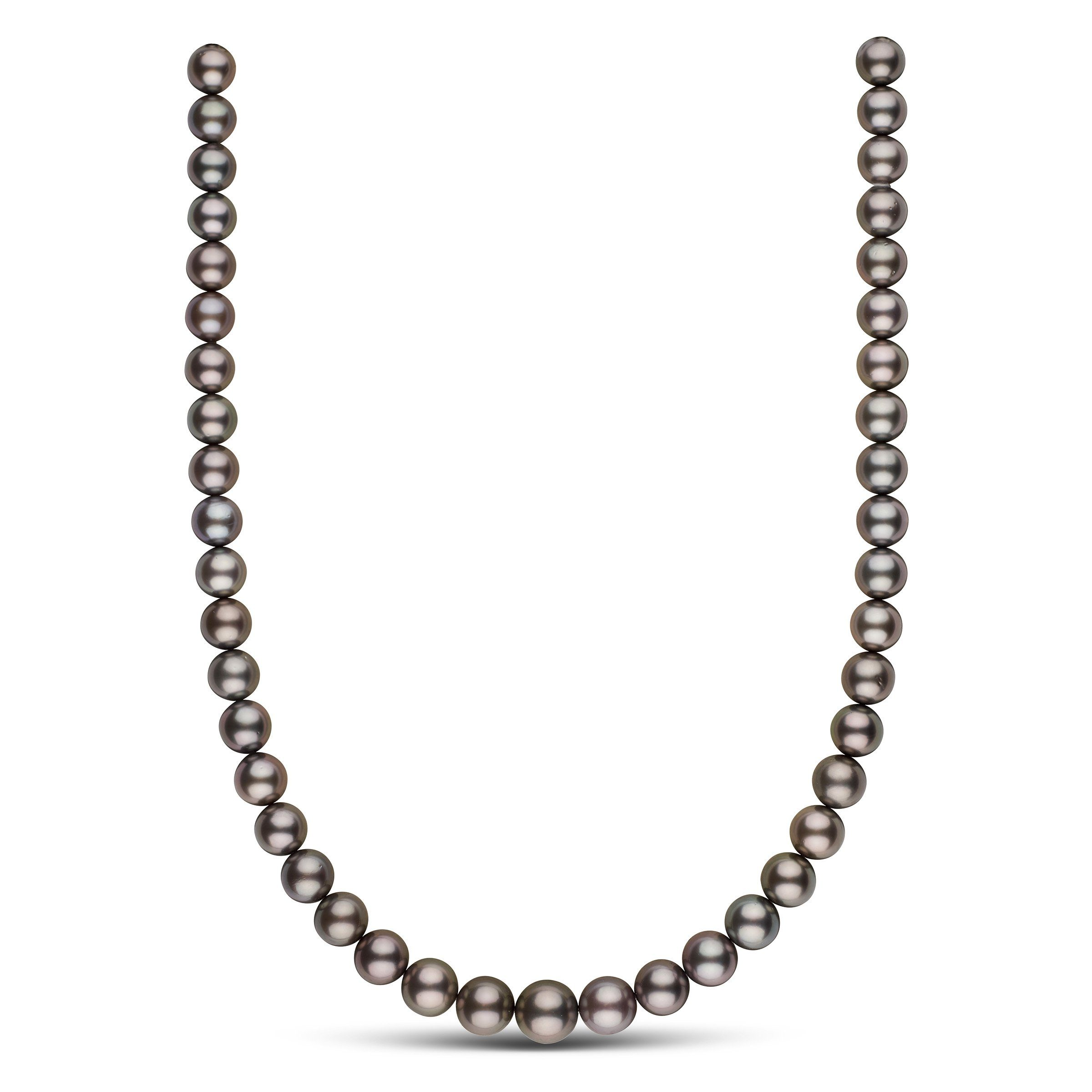 9.0-11.4 mm AAA Tahitian Round Pearl Necklace