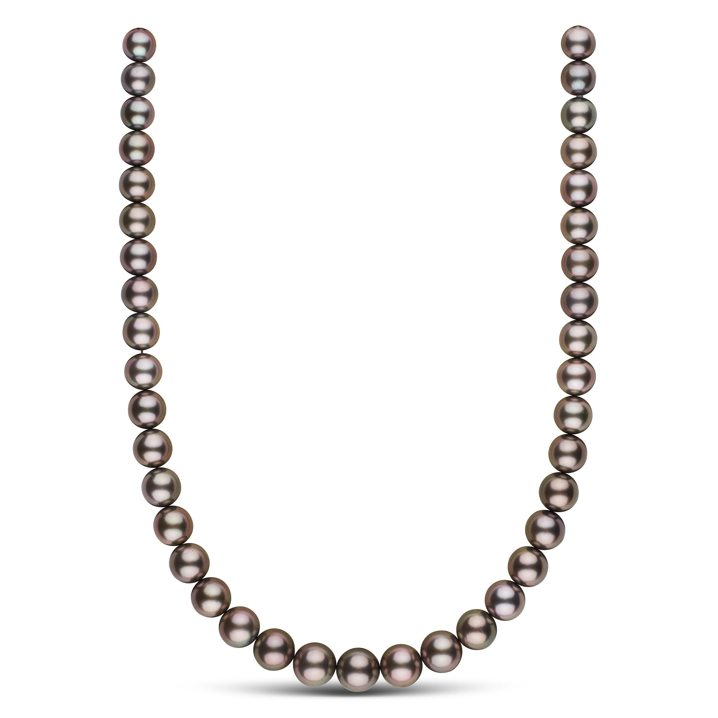 9.2-11.9 mm AAA Tahitian Round Pearl Necklace