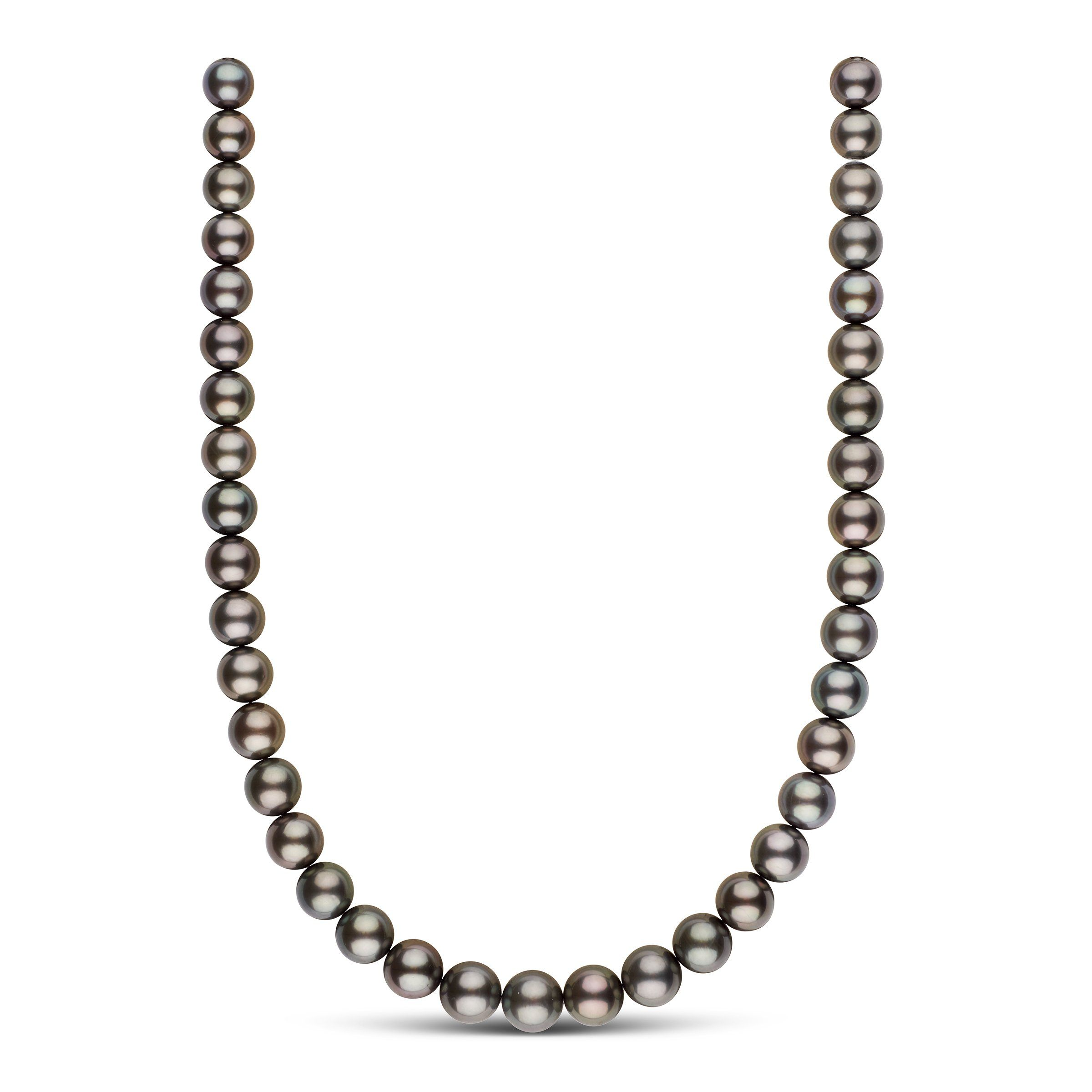 9.9-11.8 mm AAA Tahitian Round Pearl Necklace