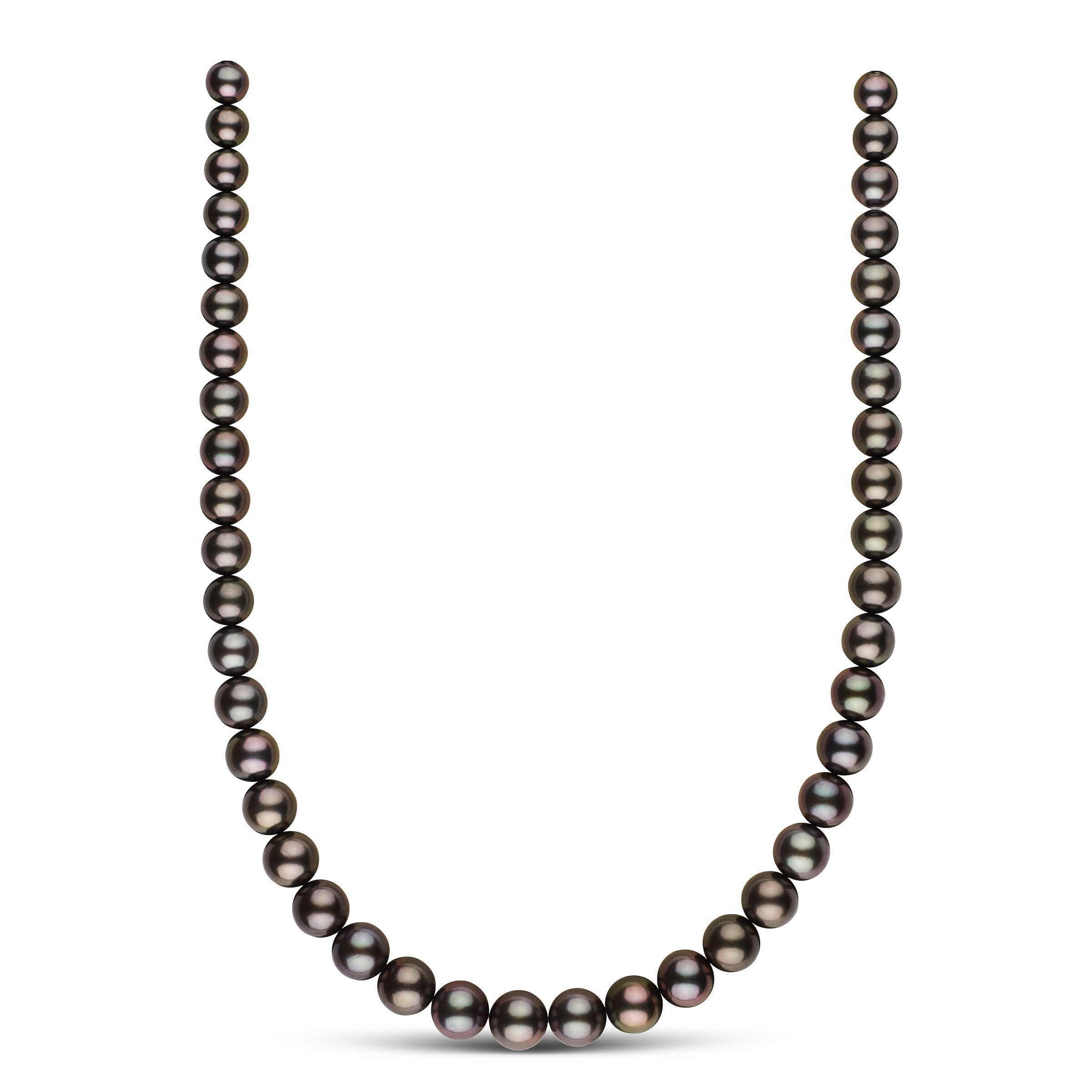 8.1-10.9 mm AAA Tahitian Round Pearl Necklace