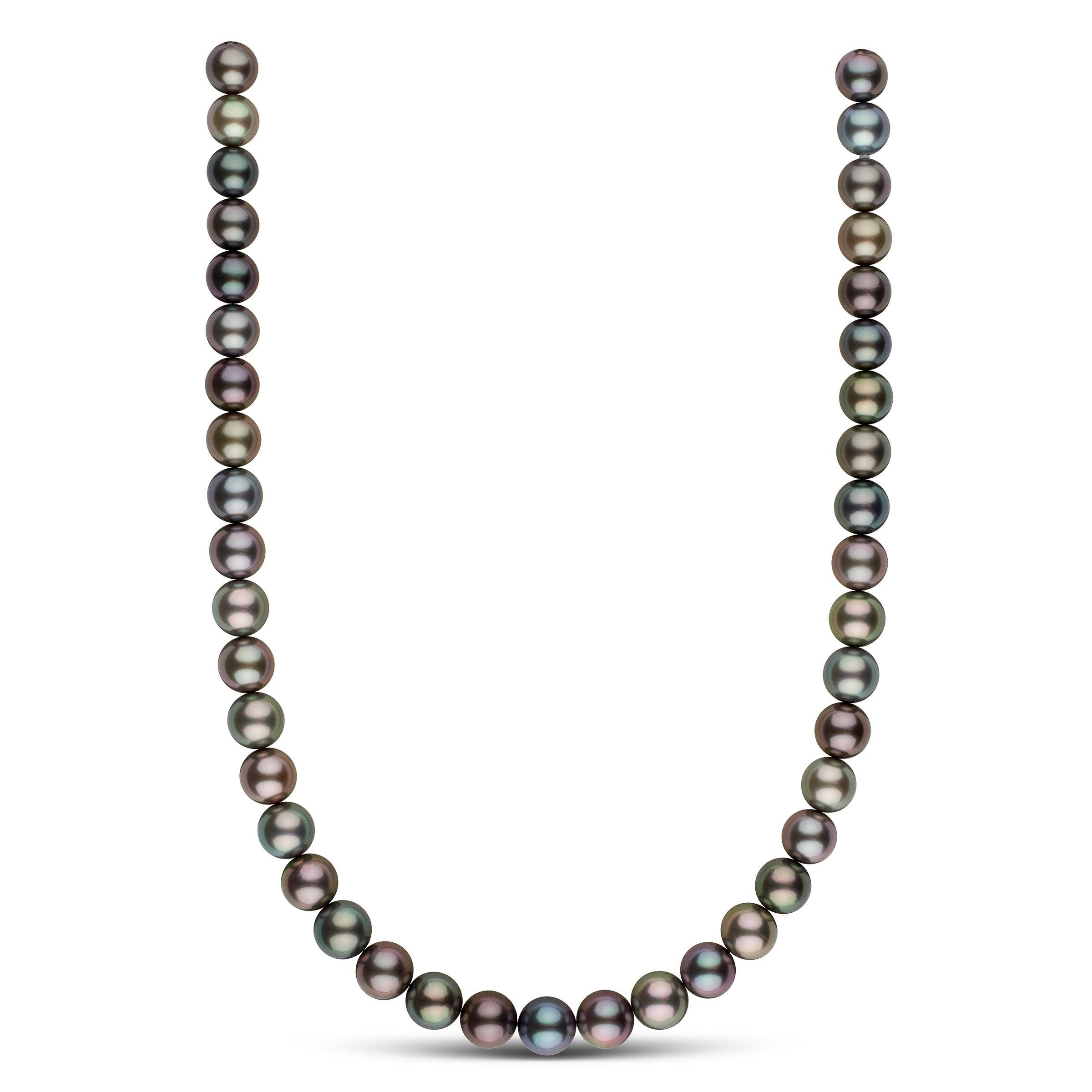 10.0-11.1 mm AA+/AAA Tahitian Round Pearl Necklace