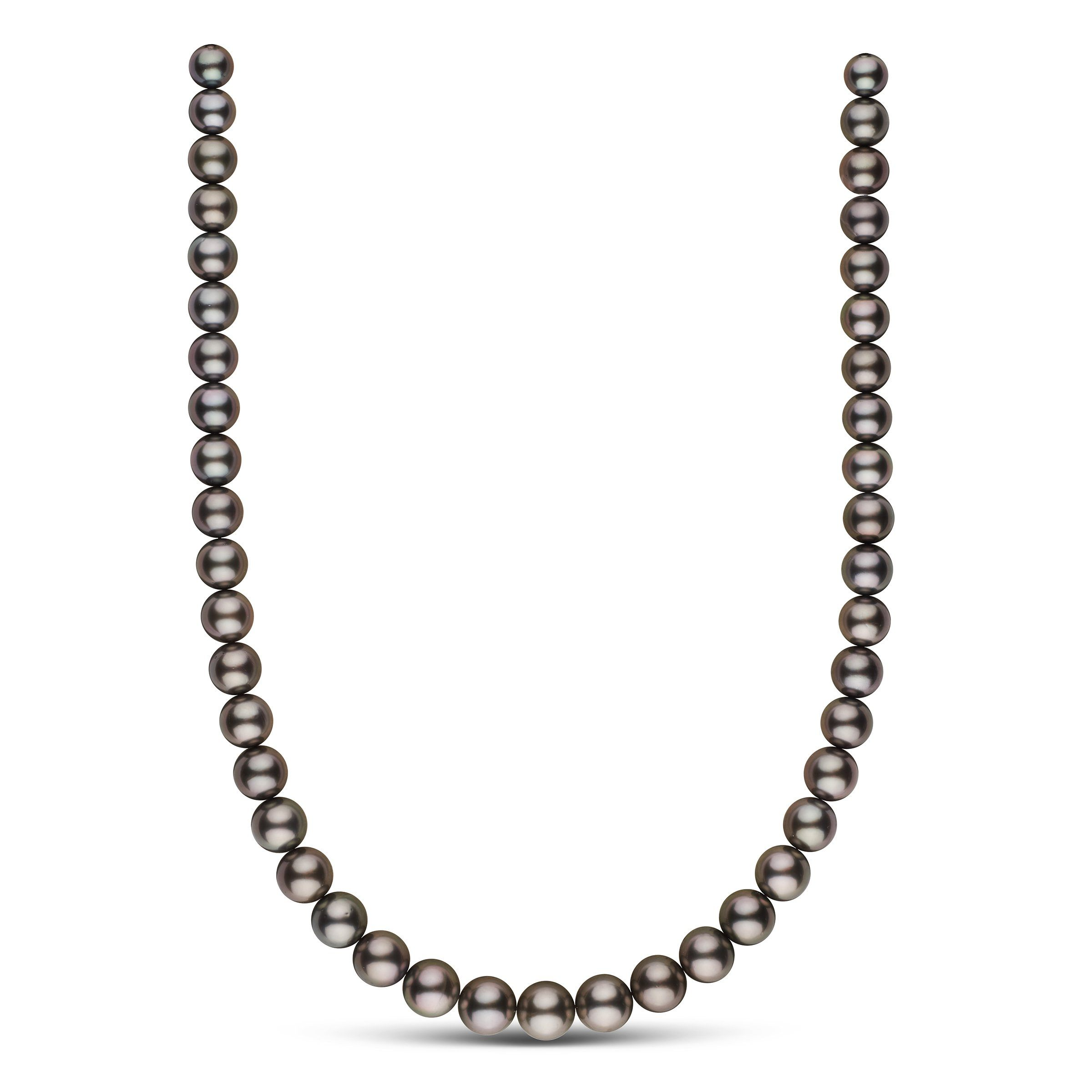 8.2-10.9 mm AAA Tahitian Round Pearl Necklace