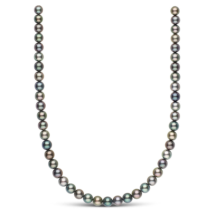 18-inch 8.0-9.1 mm AAA Round Multicolor Tahitian Pearl Necklace