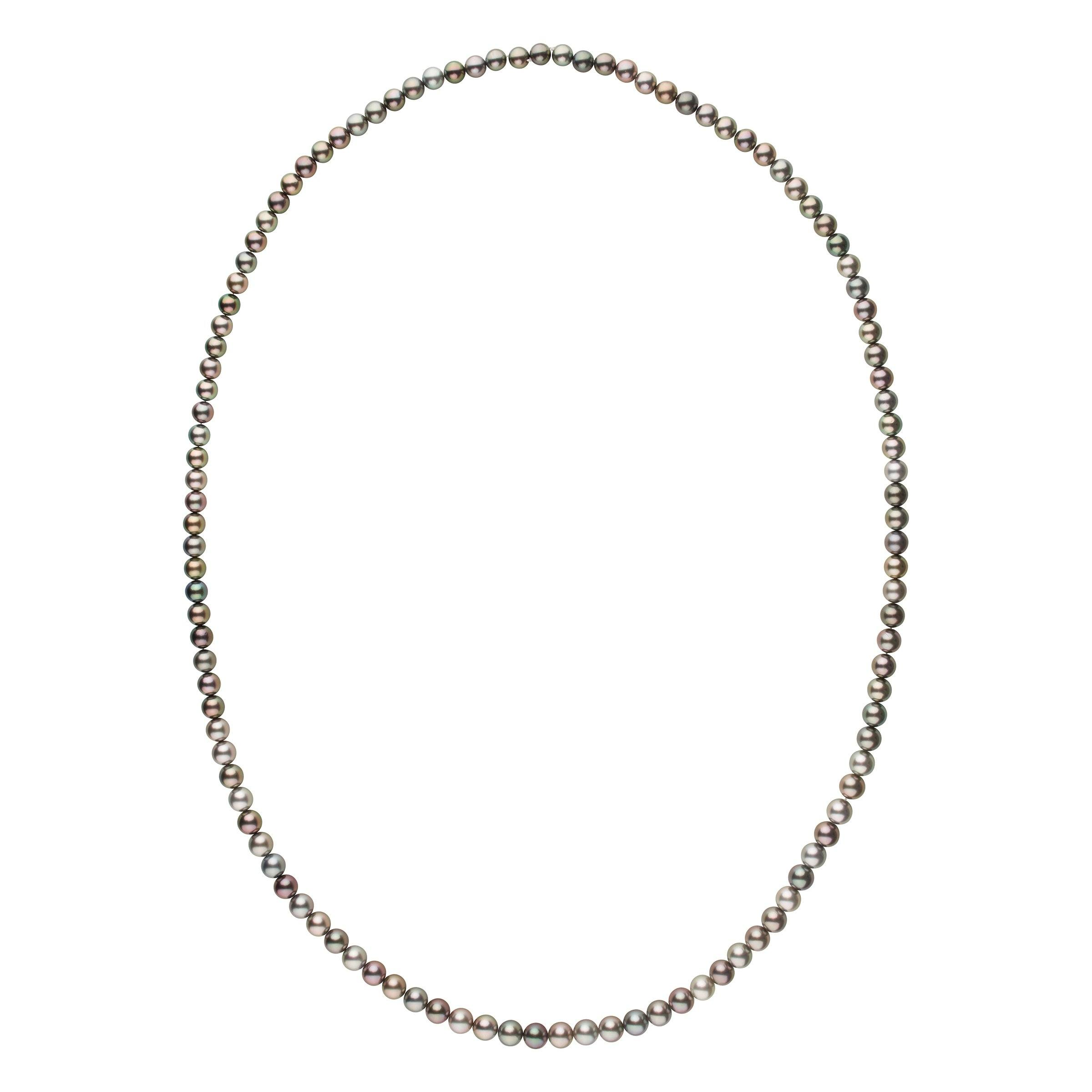 9.0-11.1 mm AAA Tahitian Round Pearl Necklace - 49 Inches