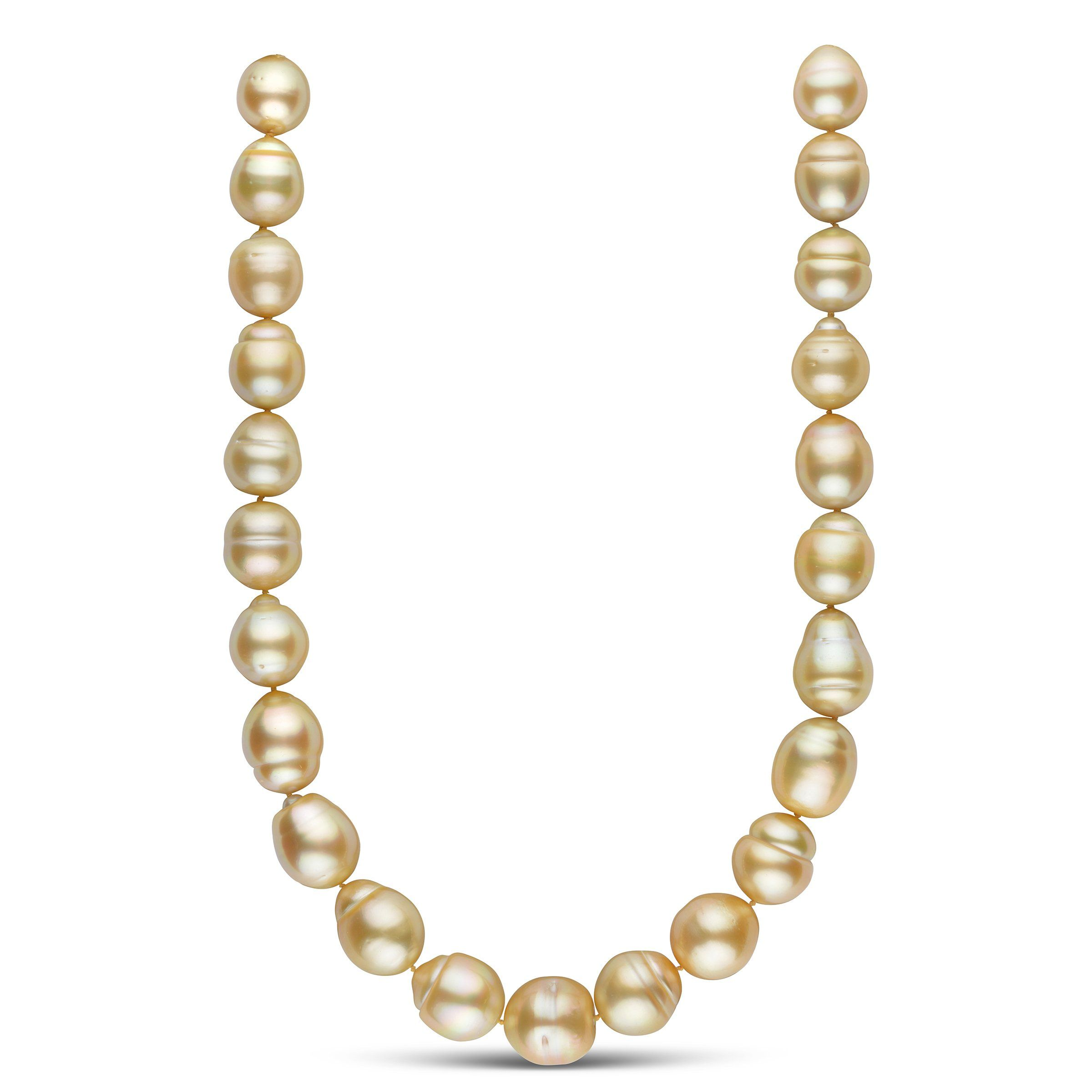 18 inch 15.0-17.2 mm AA+/AAA Golden South Sea Baroque Pearl Necklace