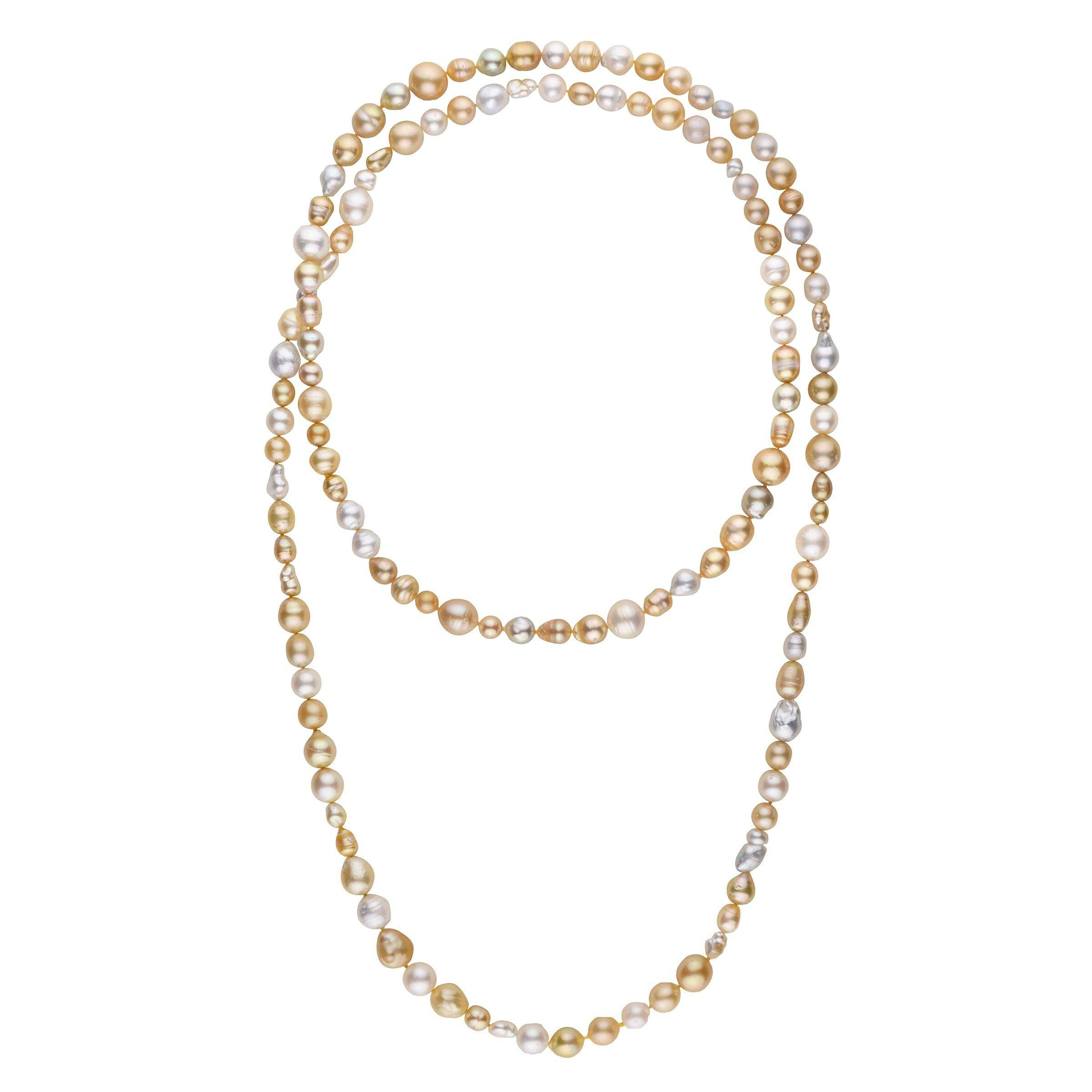 54-inch South Sea Endless Strand Necklace
