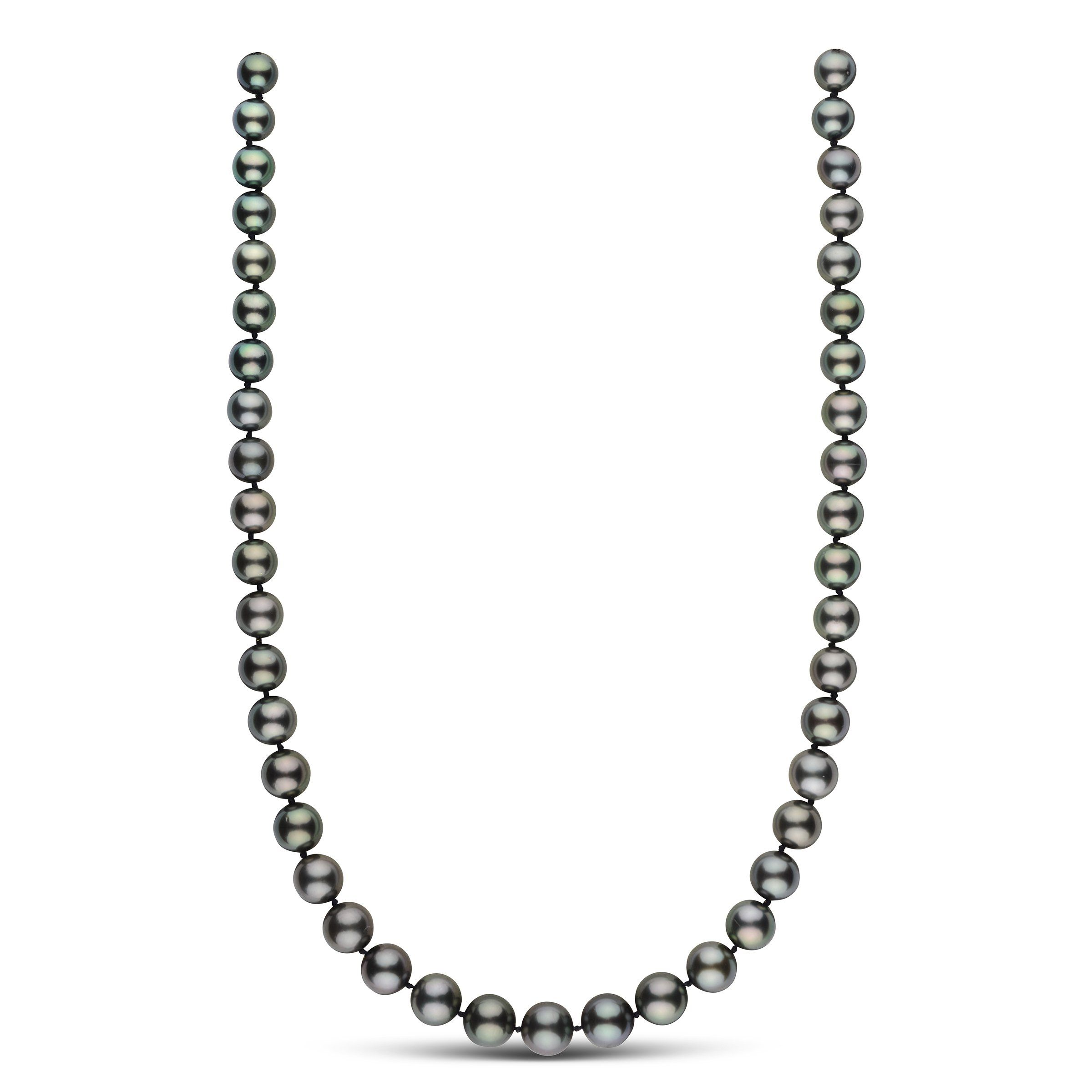 19 inch 8.7-11.0 mm AA+/AAA Round Tahitian Pearl Necklace
