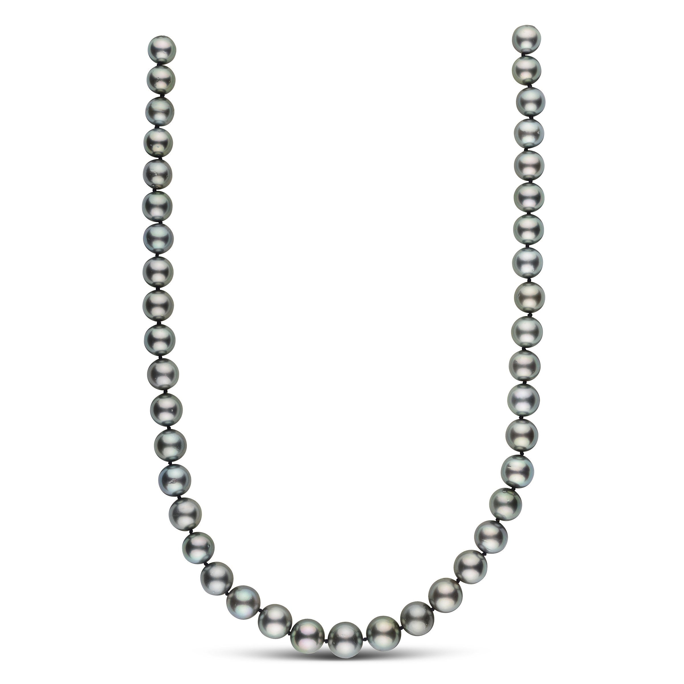 18 inch 9.5-11.6 mm AA+ Round Tahitian Pearl Necklace