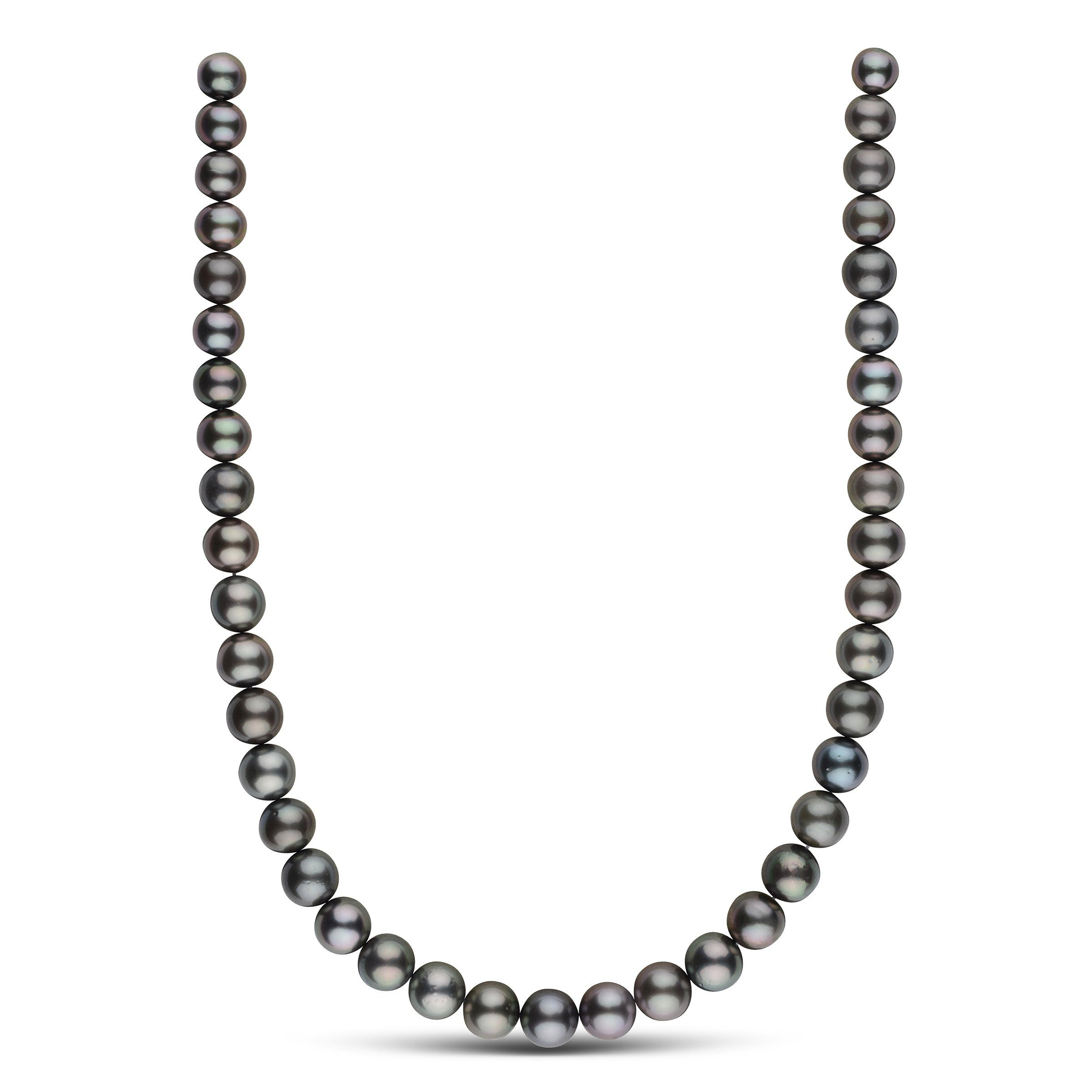 11.1-14.5 mm AA+ Round Tahitian Pearl Necklace