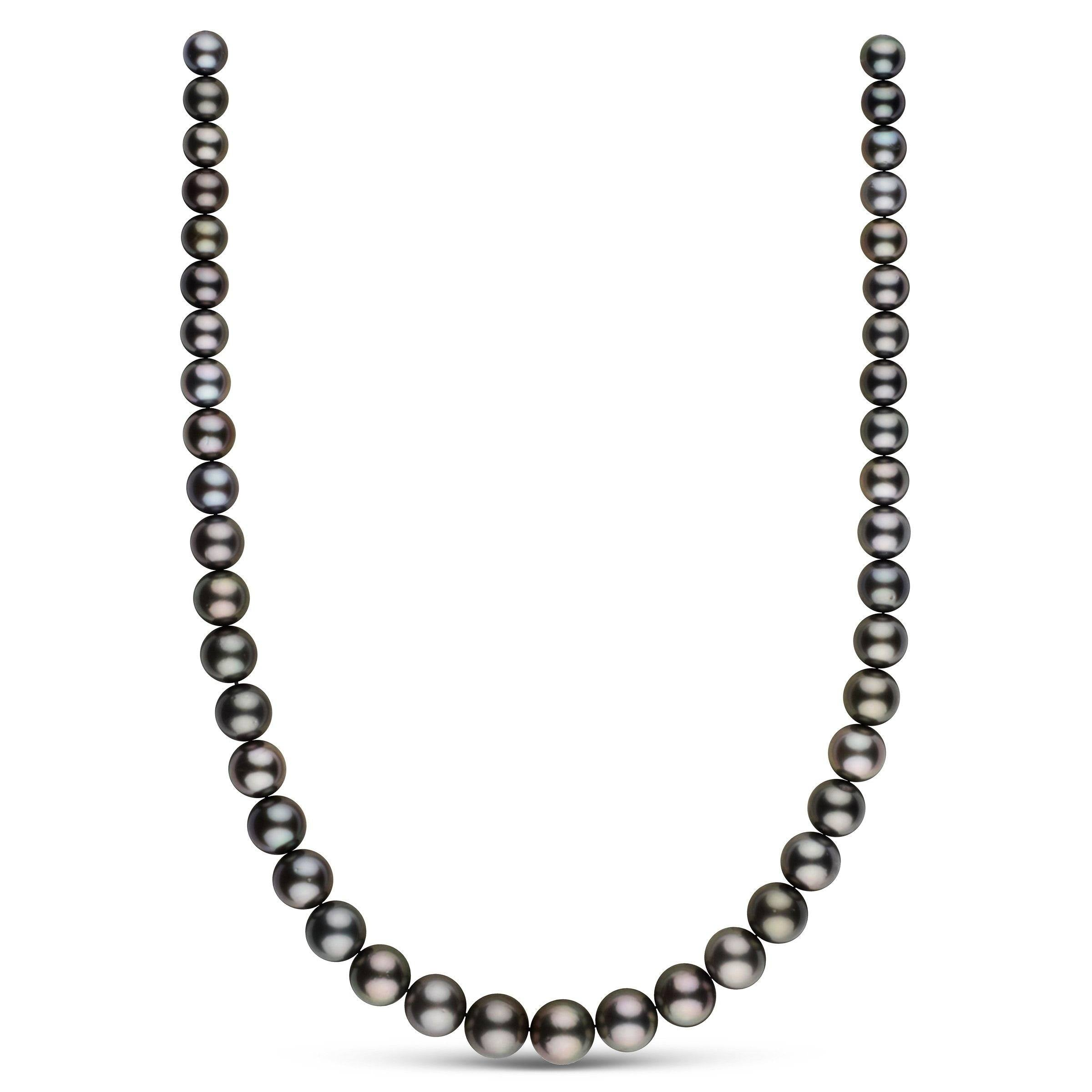 8.2-11.8 mm AA+ Round Tahitian Pearl Necklace