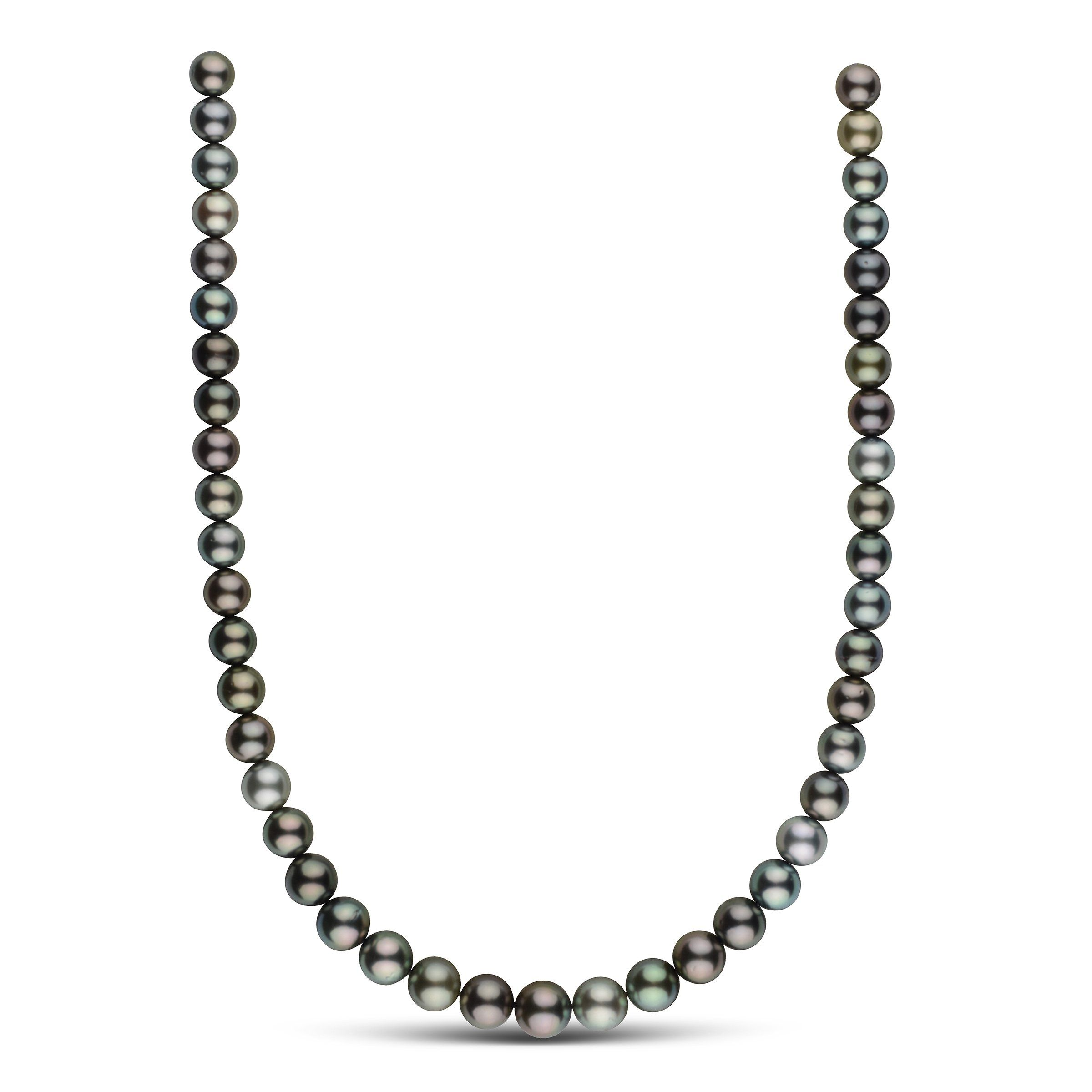 8.5-10.7 mm AA+ Round Tahitian Pearl Necklace
