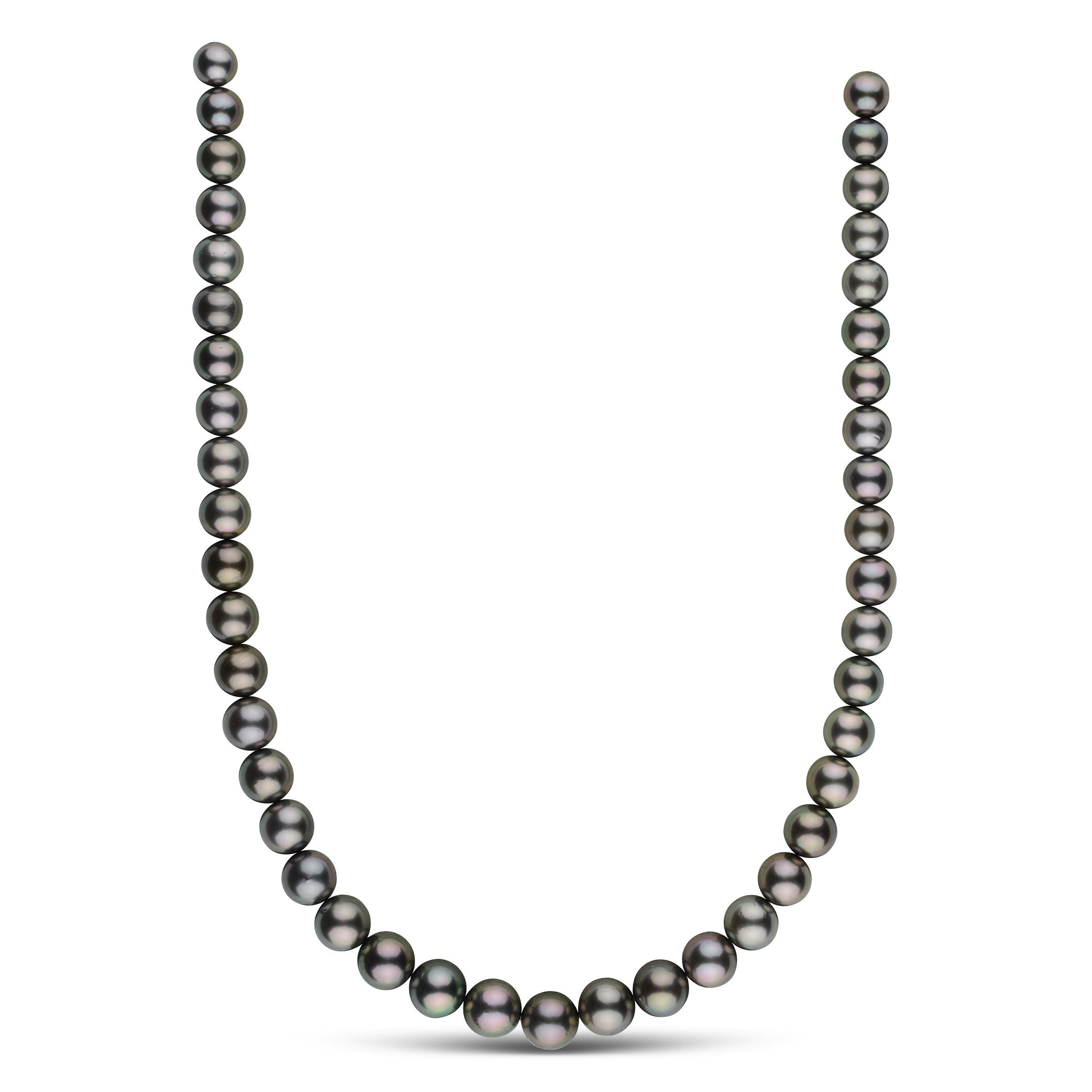 8.3-10.9 mm AA+ Round Tahitian Pearl Necklace