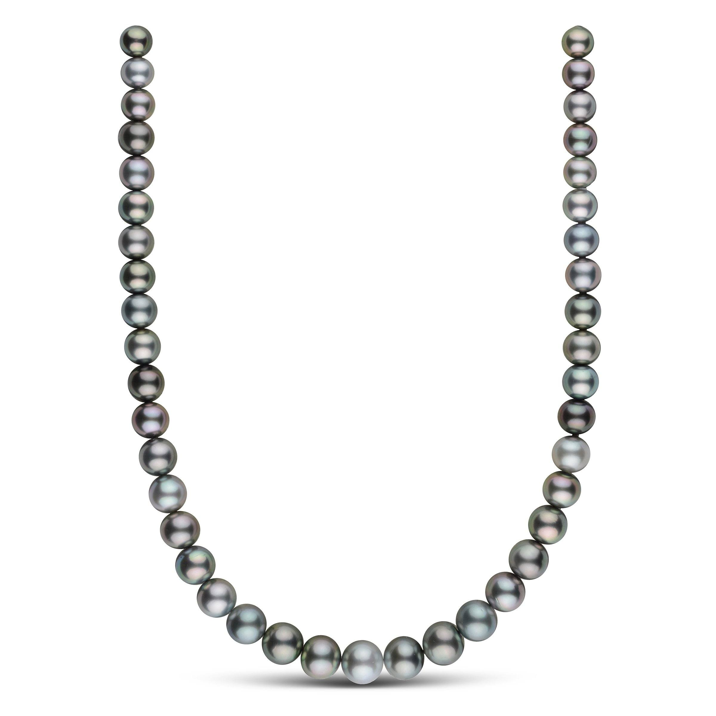 8.9-12.0 mm AAA Round Tahitian Pearl Necklace