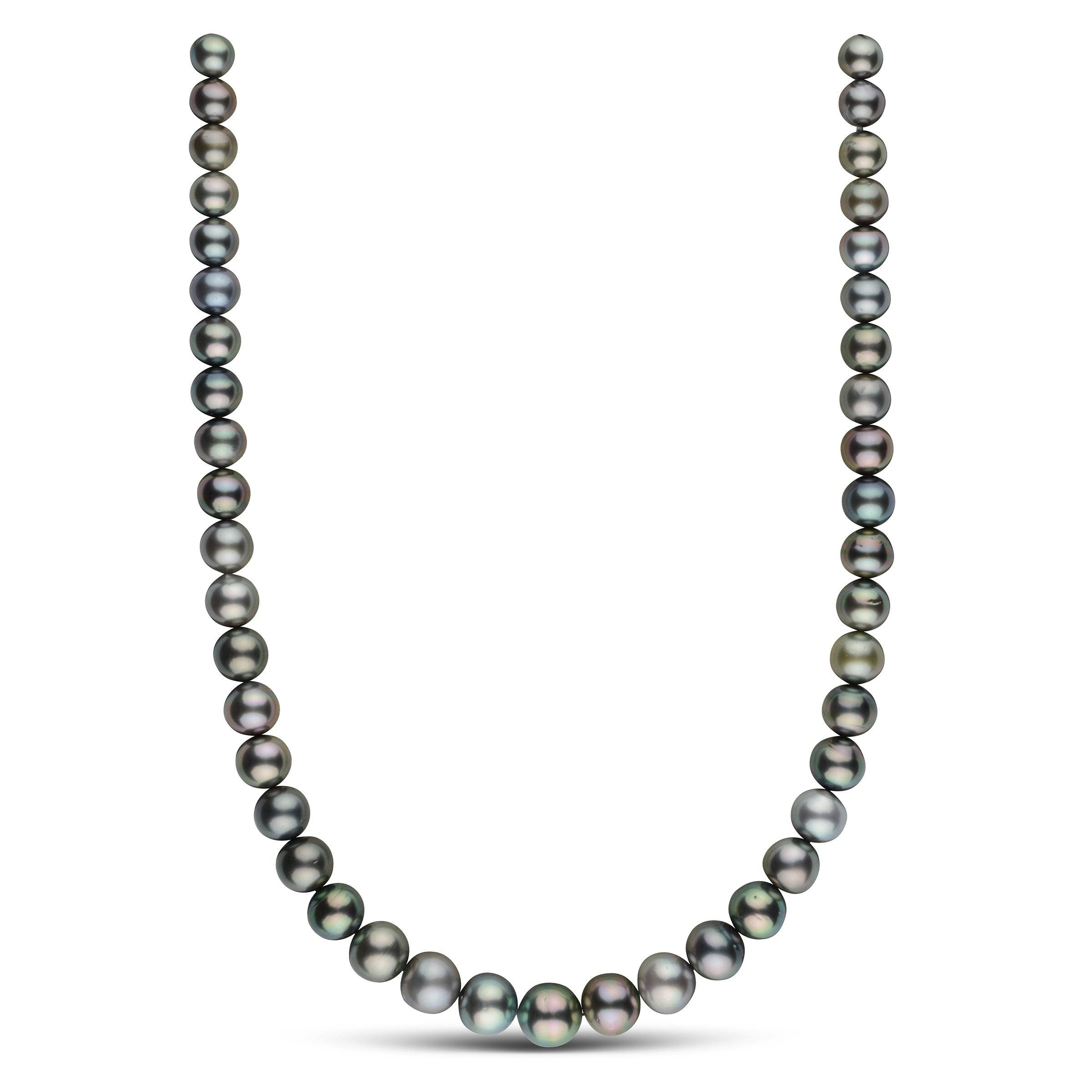 8.4-11.9 mm AA+/AAA Round Tahitian Pearl Necklace