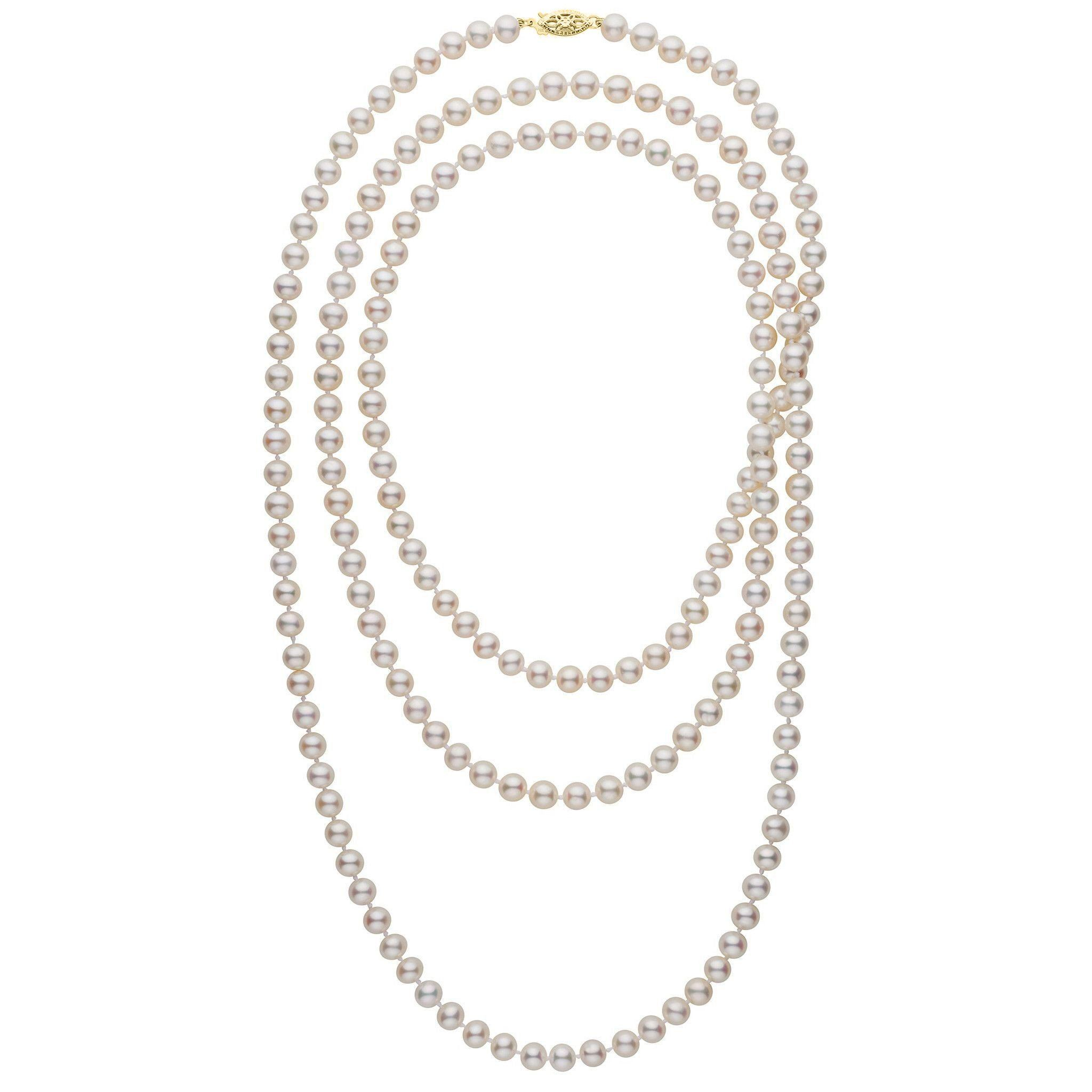 52-inch 6.5-7.0 mm AA+ White Freshwater Pearl Necklace