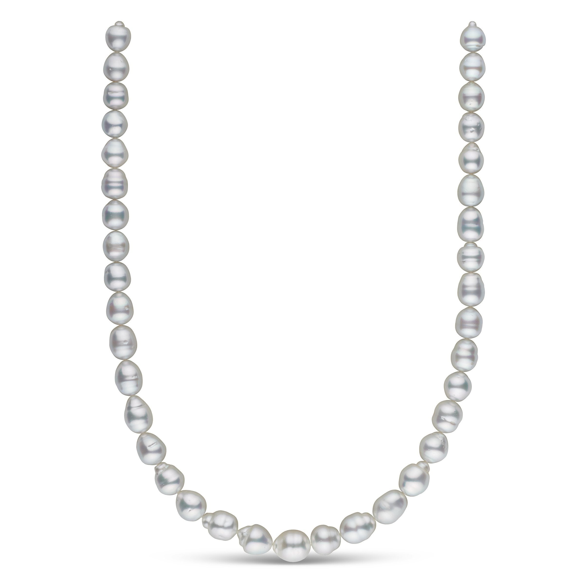 8.9-11.1 mm AA+/AAA White South Sea Baroque Necklace