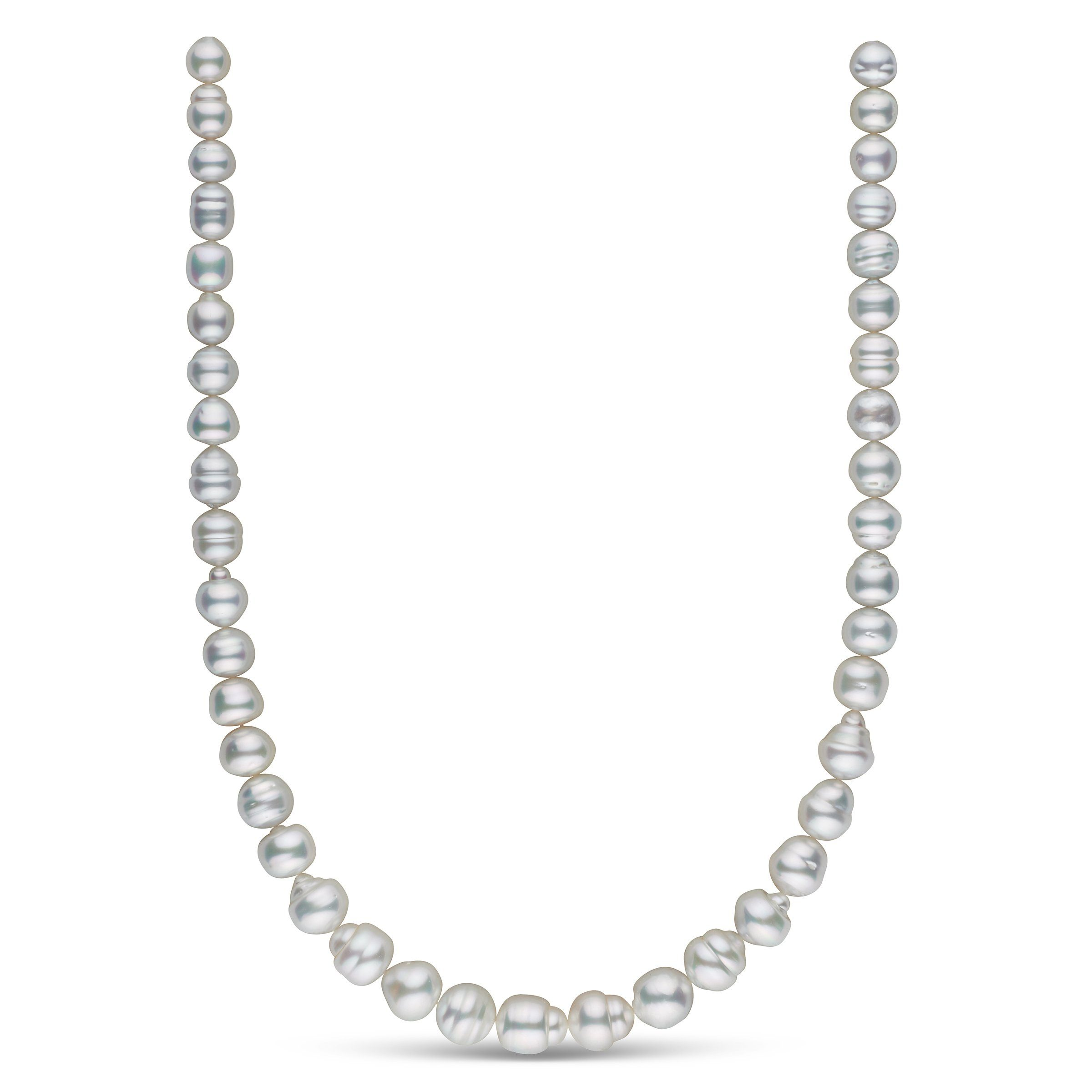 8.2-11.4 mm AA+/AAA White South Sea Baroque Necklace
