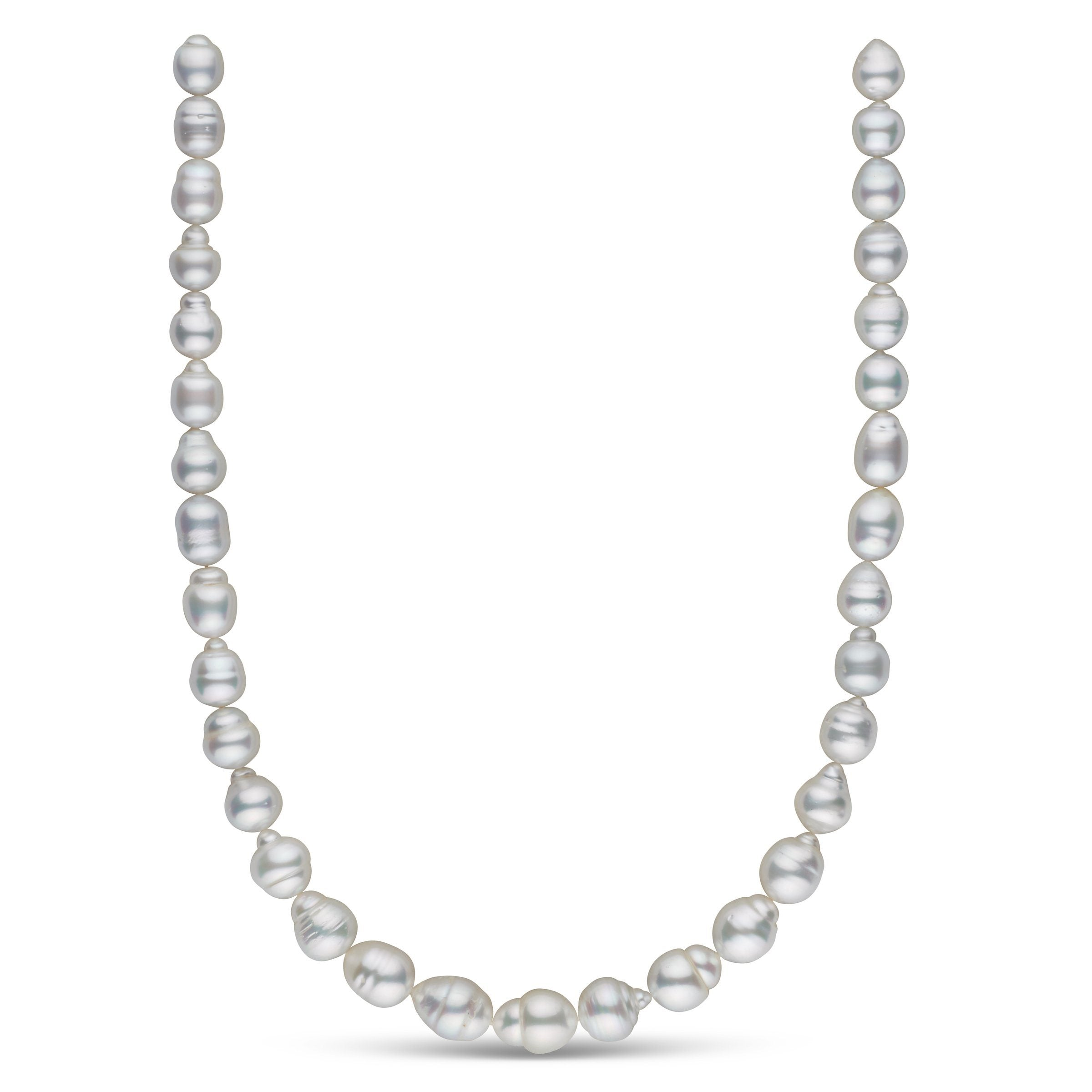 9.0-11.5 mm AA+/AAA White South Sea Baroque Necklace