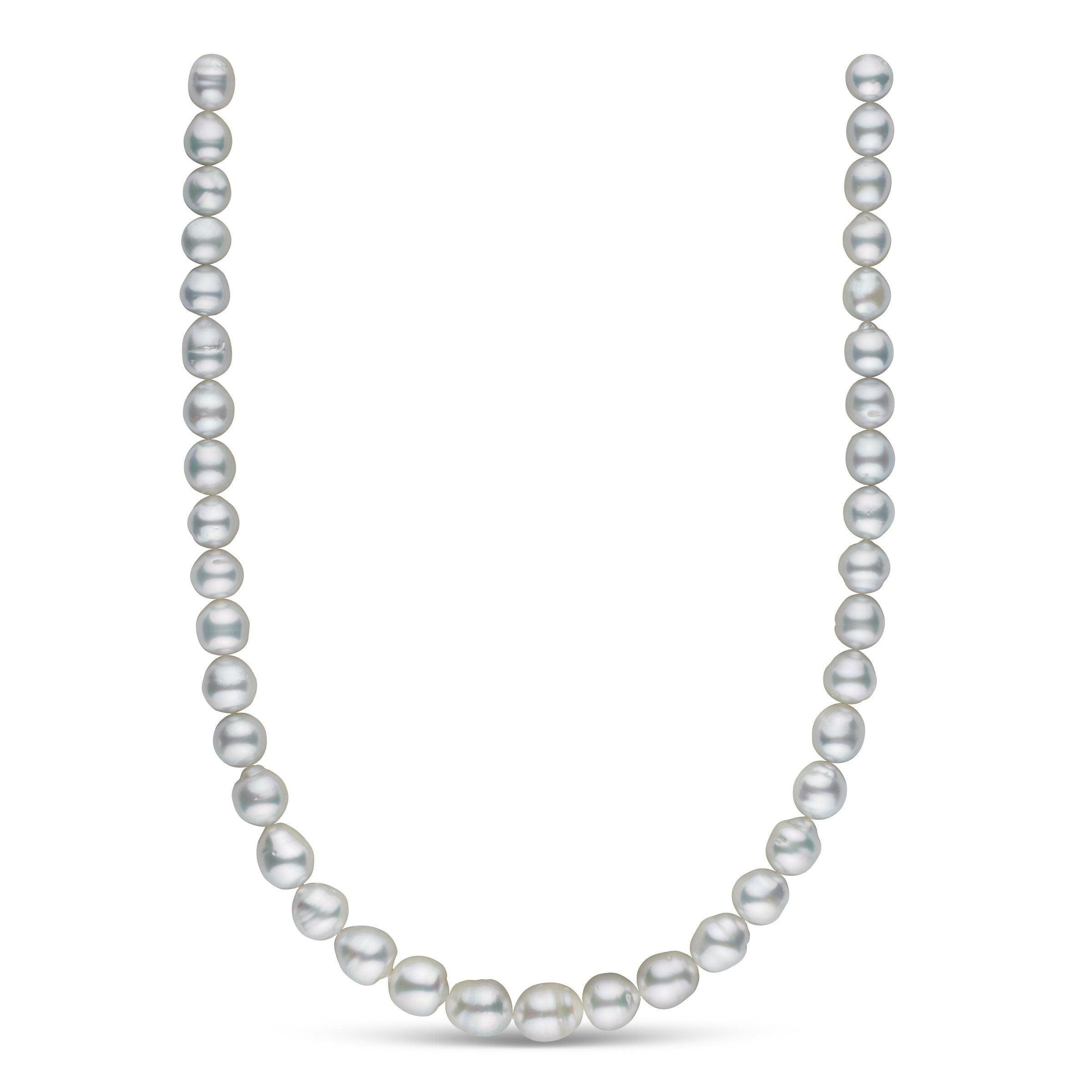 8.8-11.0 mm AA+/AAA White South Sea Baroque Necklace