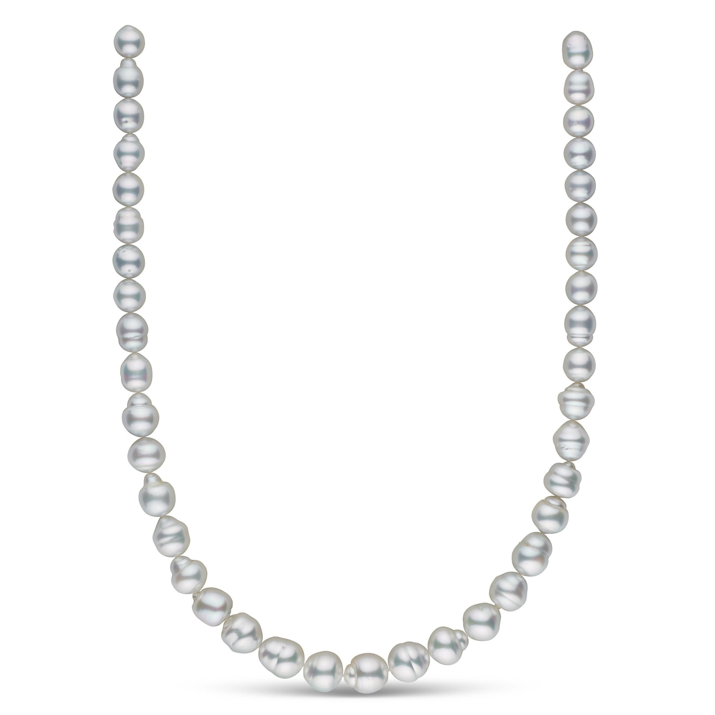 8.4-11.1 mm AA+/AAA White South Sea Baroque Necklace