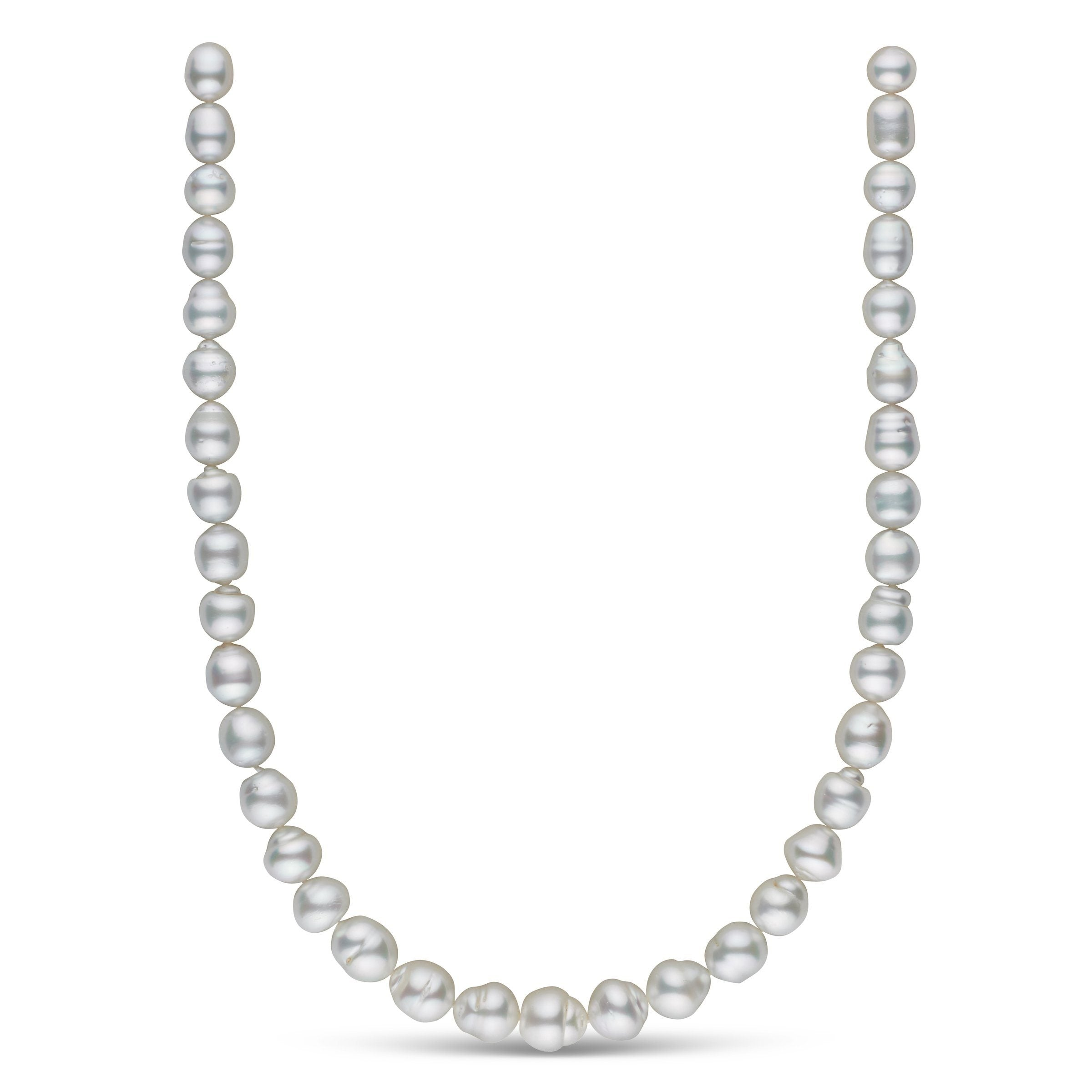 8.8-11.8 mm AA+/AAA White South Sea Baroque Necklace