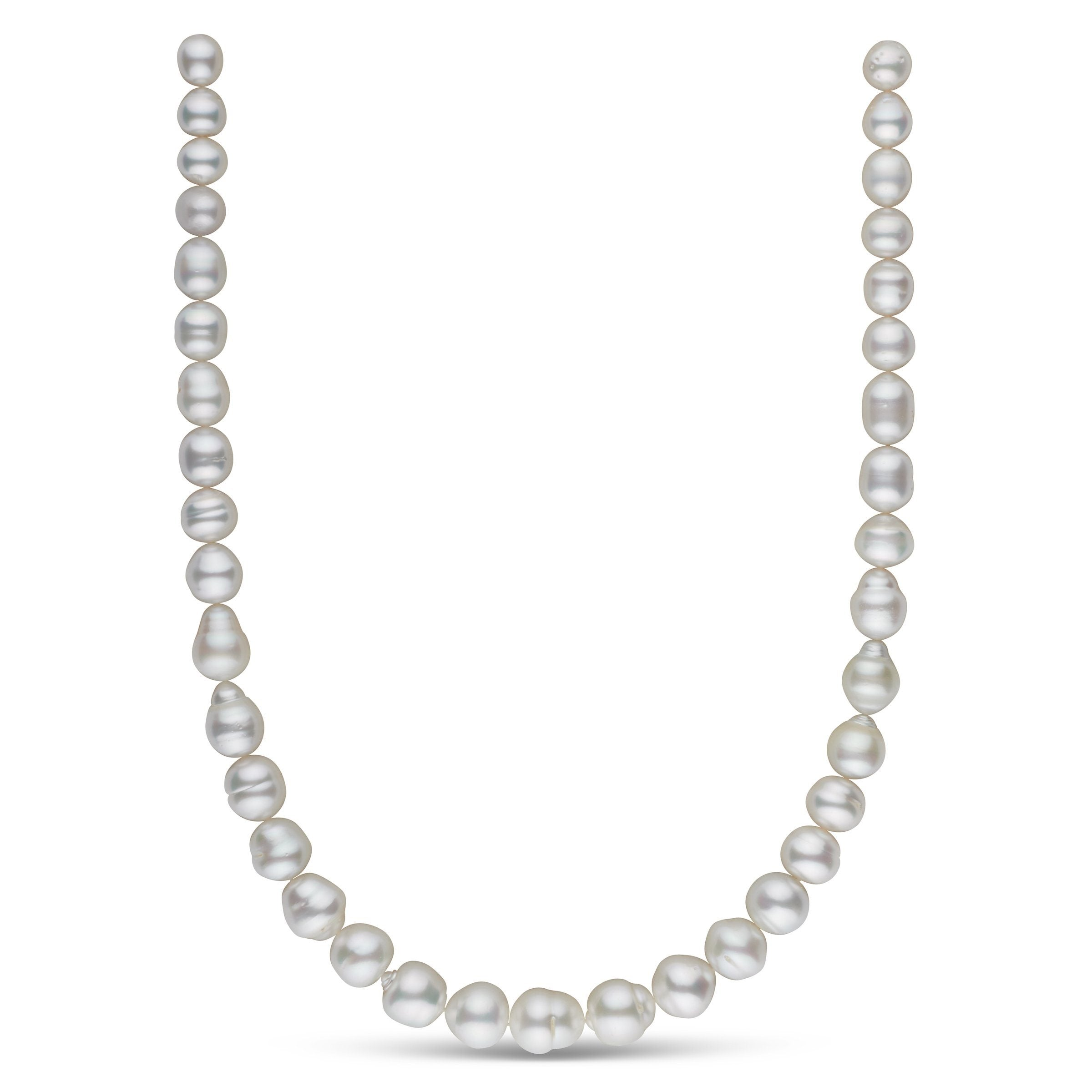 8.2-11.9 mm AA+/AAA White South Sea Baroque Necklace