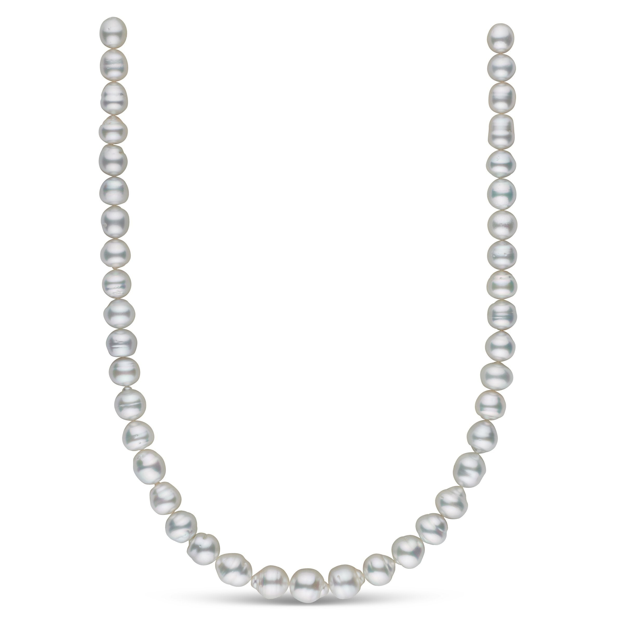 8.7-11.1 mm AA+/AAA White South Sea Baroque Necklace