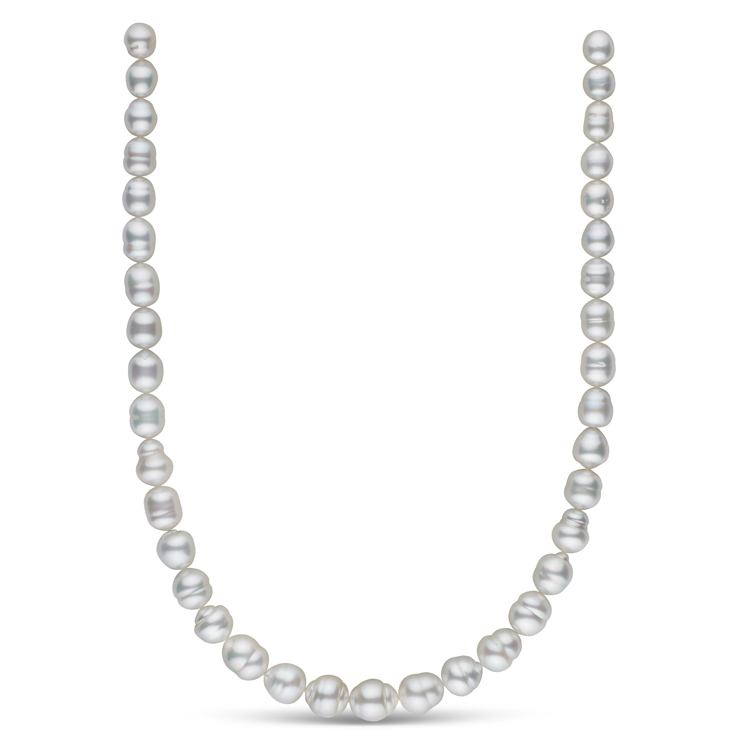 8.3-11.5 mm AA+/AAA White South Sea Baroque Necklace