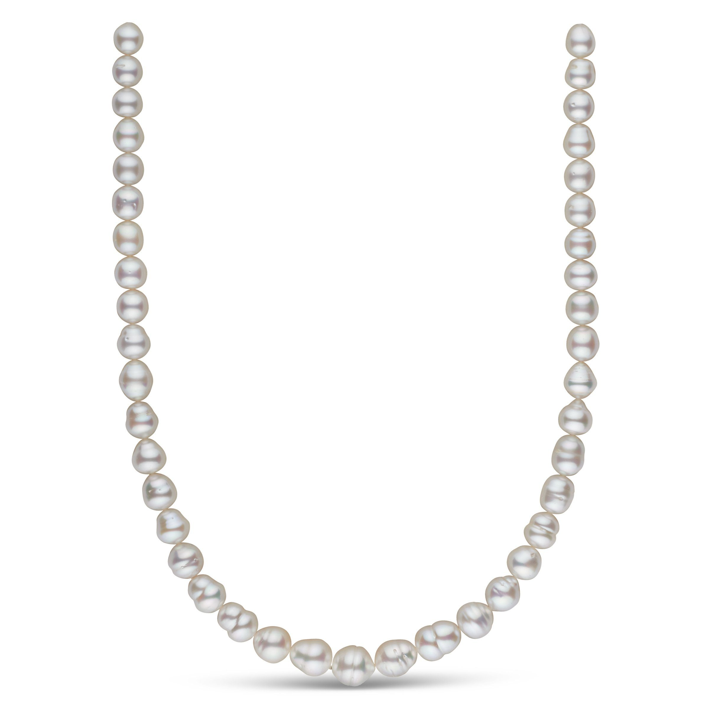 8.1-11.1 mm AA+/AAA White South Sea Baroque Necklace
