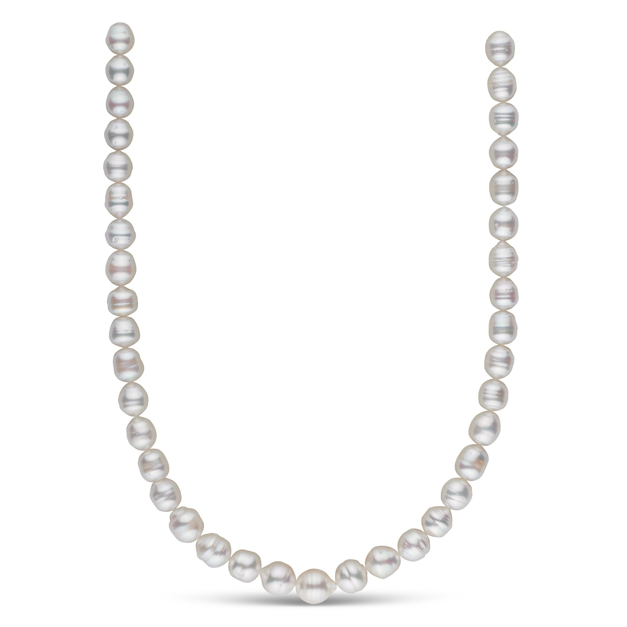 9.1-11.3 mm AA+/AAA White South Sea Baroque Necklace