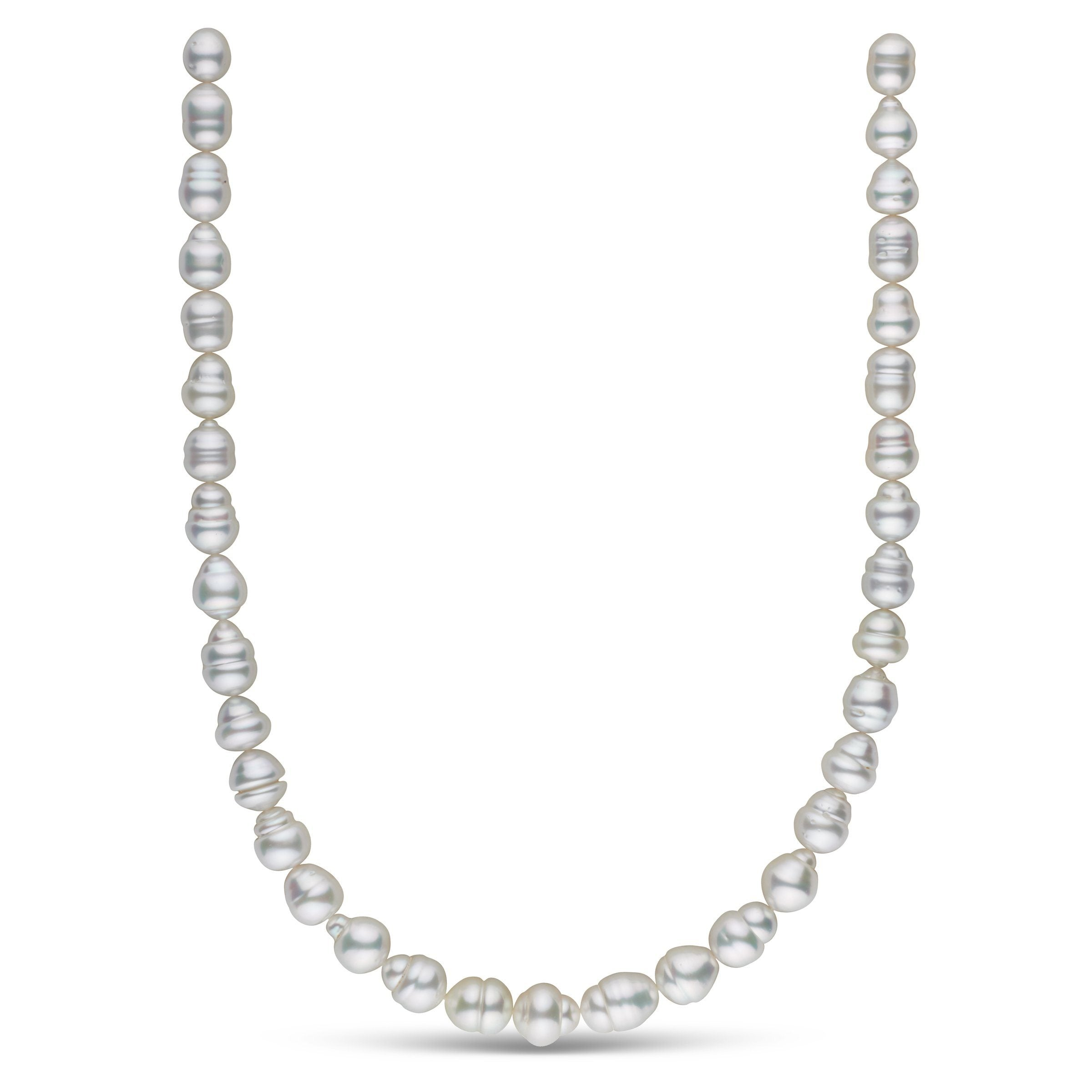 8.5-11.2 mm AA+/AAA White South Sea Baroque Necklace