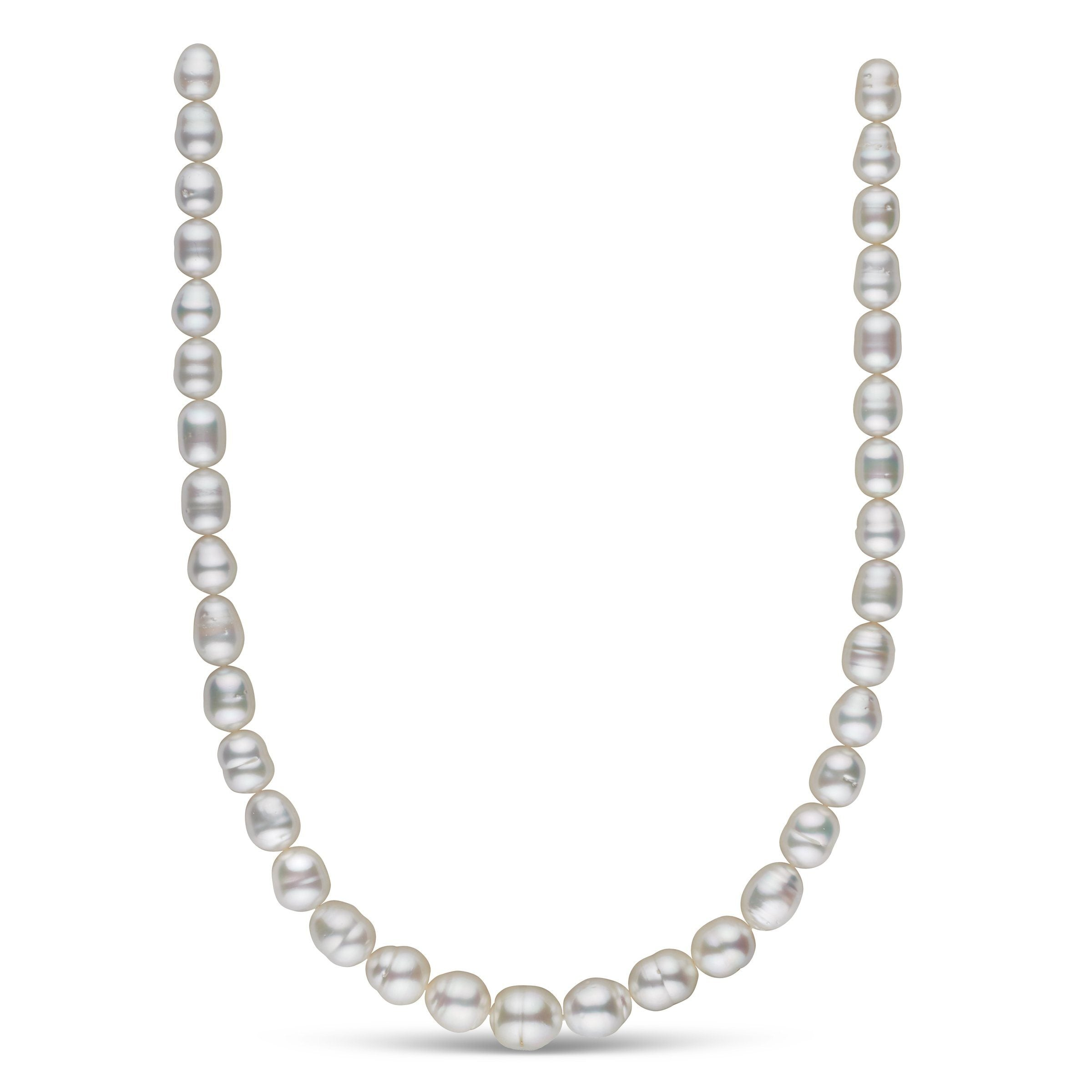 8.3-11.8 mm AA+ White South Sea Baroque Necklace