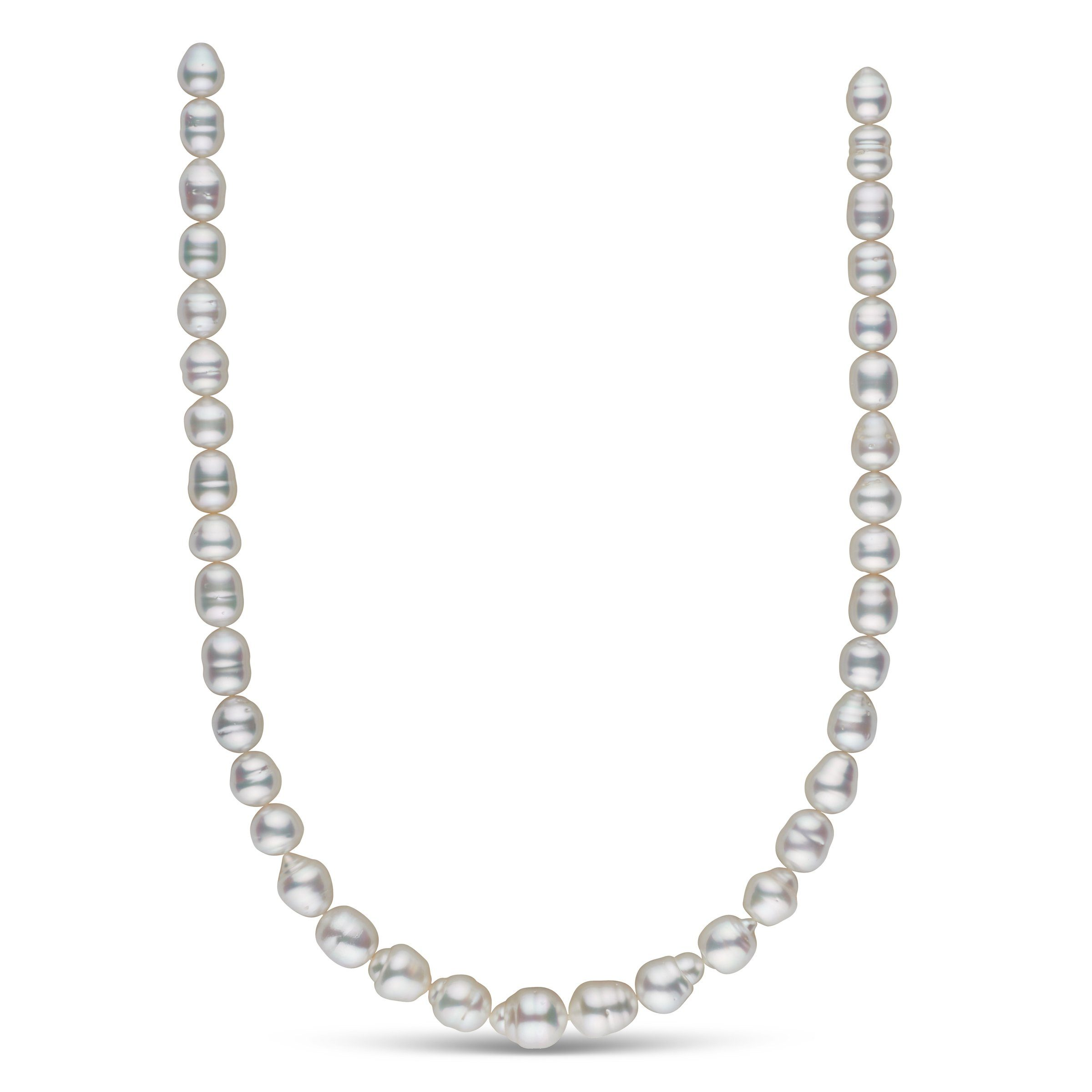 8.4-11.3 mm AA+/AAA White South Sea Baroque Necklace