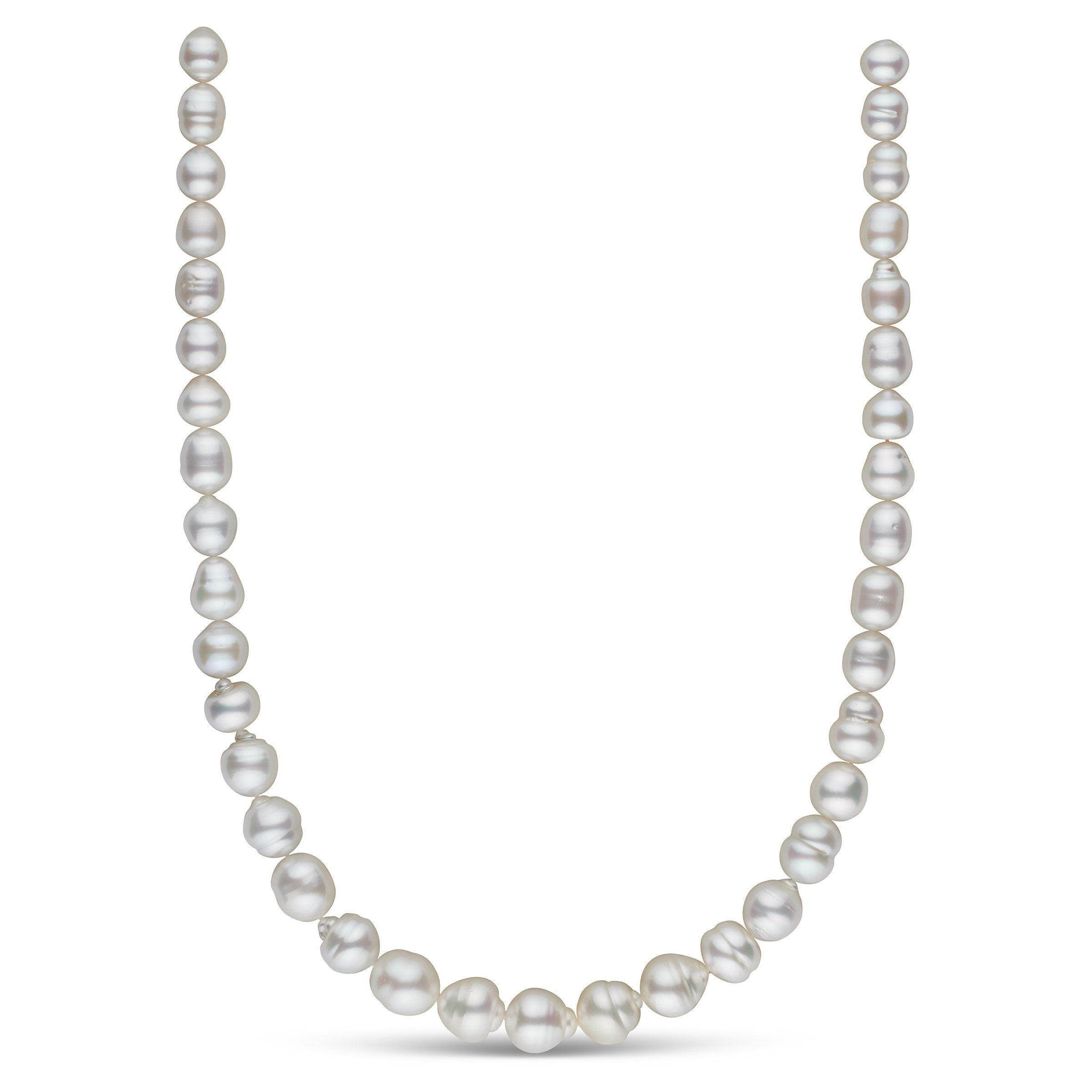 8.5-11.7 mm AA+/AAA White South Sea Baroque Necklace