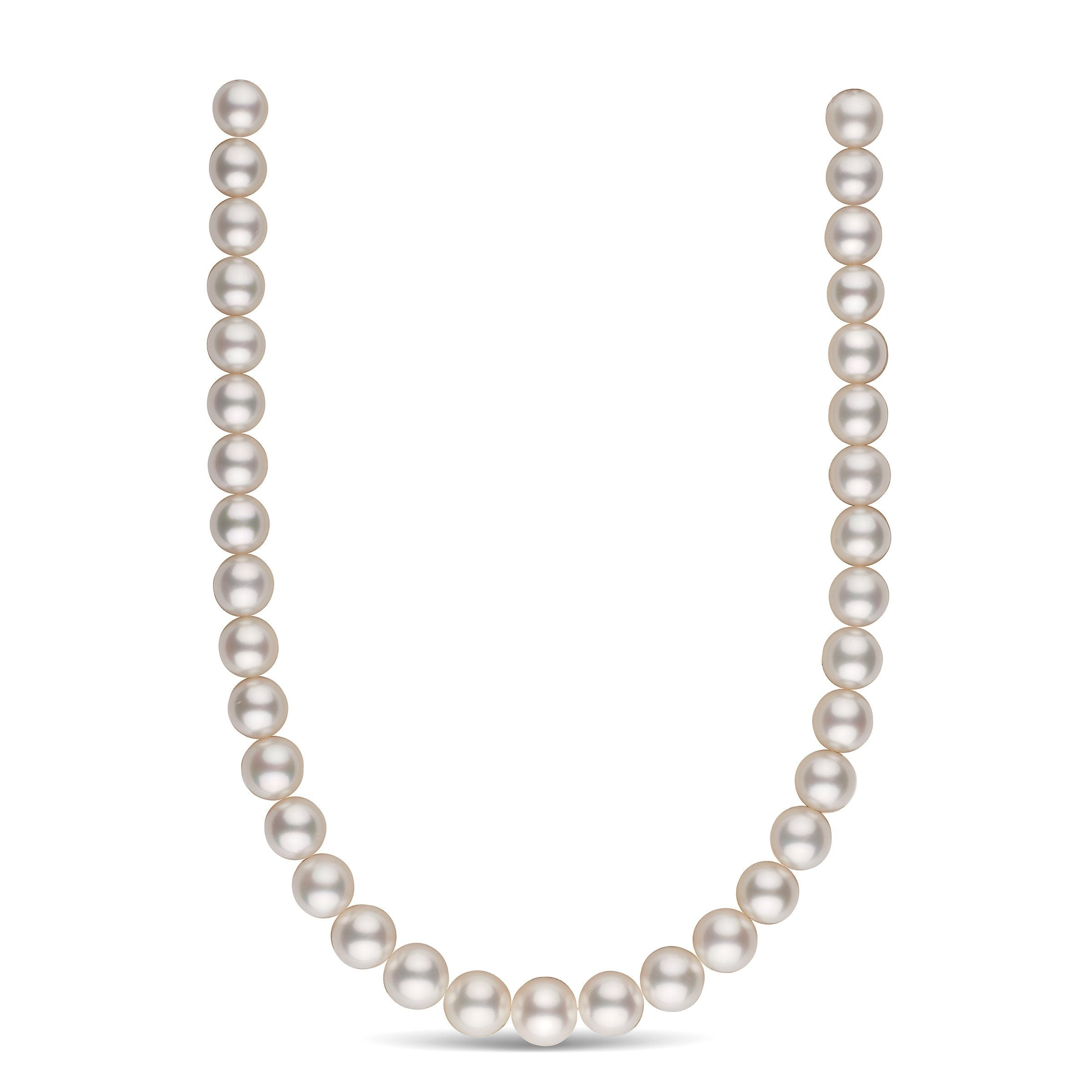 11.1-12.9 mm AA+/AAA White South Sea Round Pearl Necklace