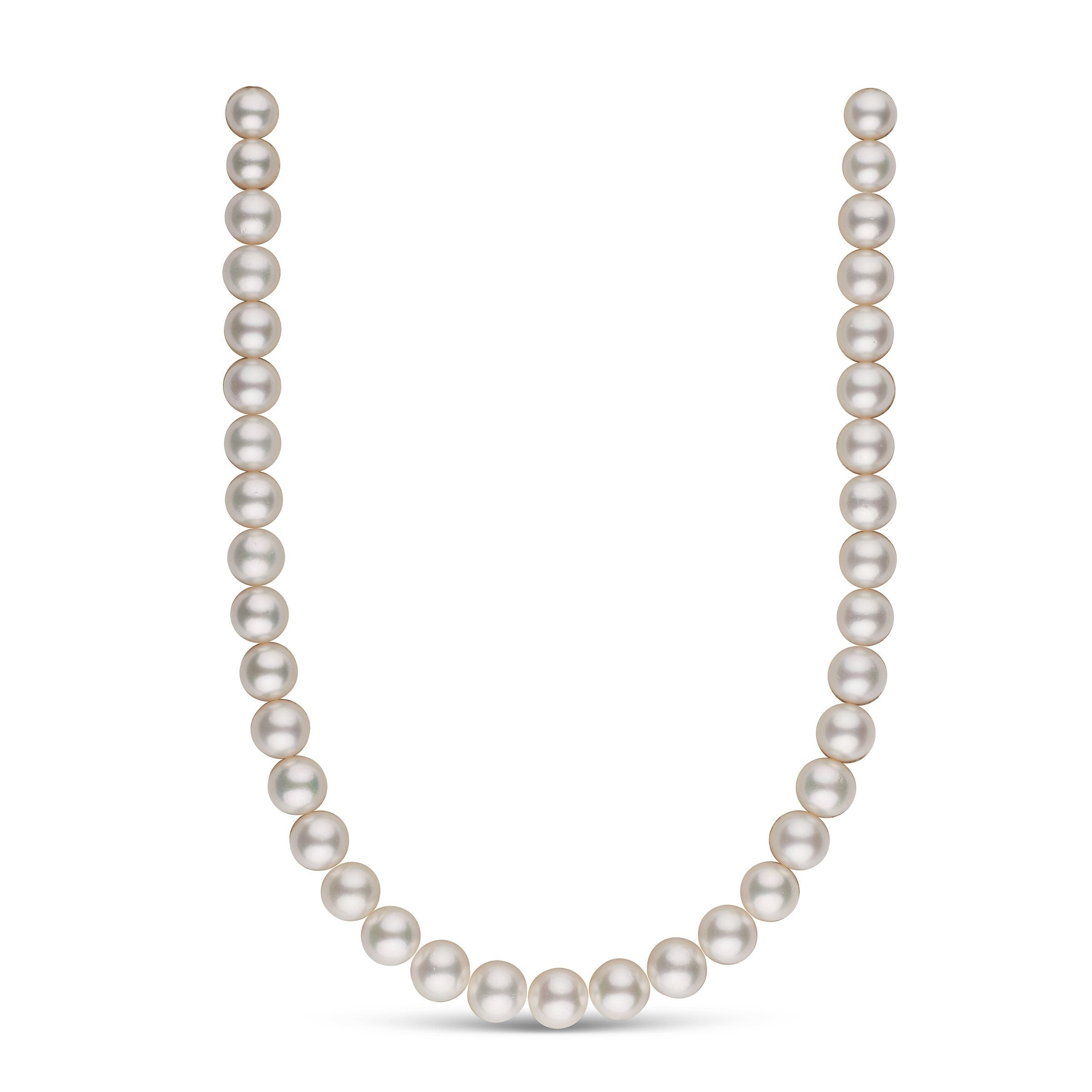 10.0-12.0 mm AA+ White South Sea Round Pearl Necklace