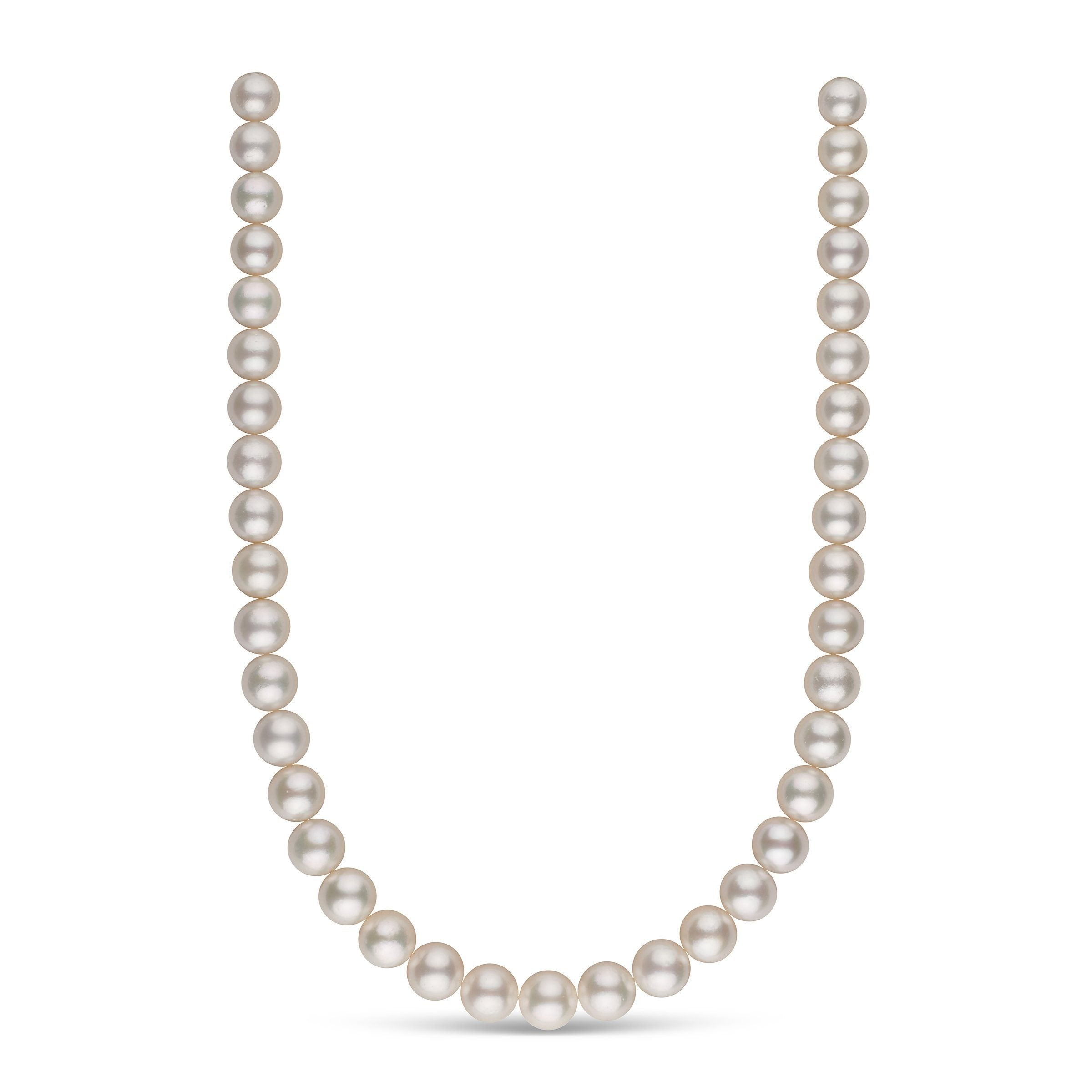 10.0-11.9 mm AA White South Sea Round Pearl Necklace