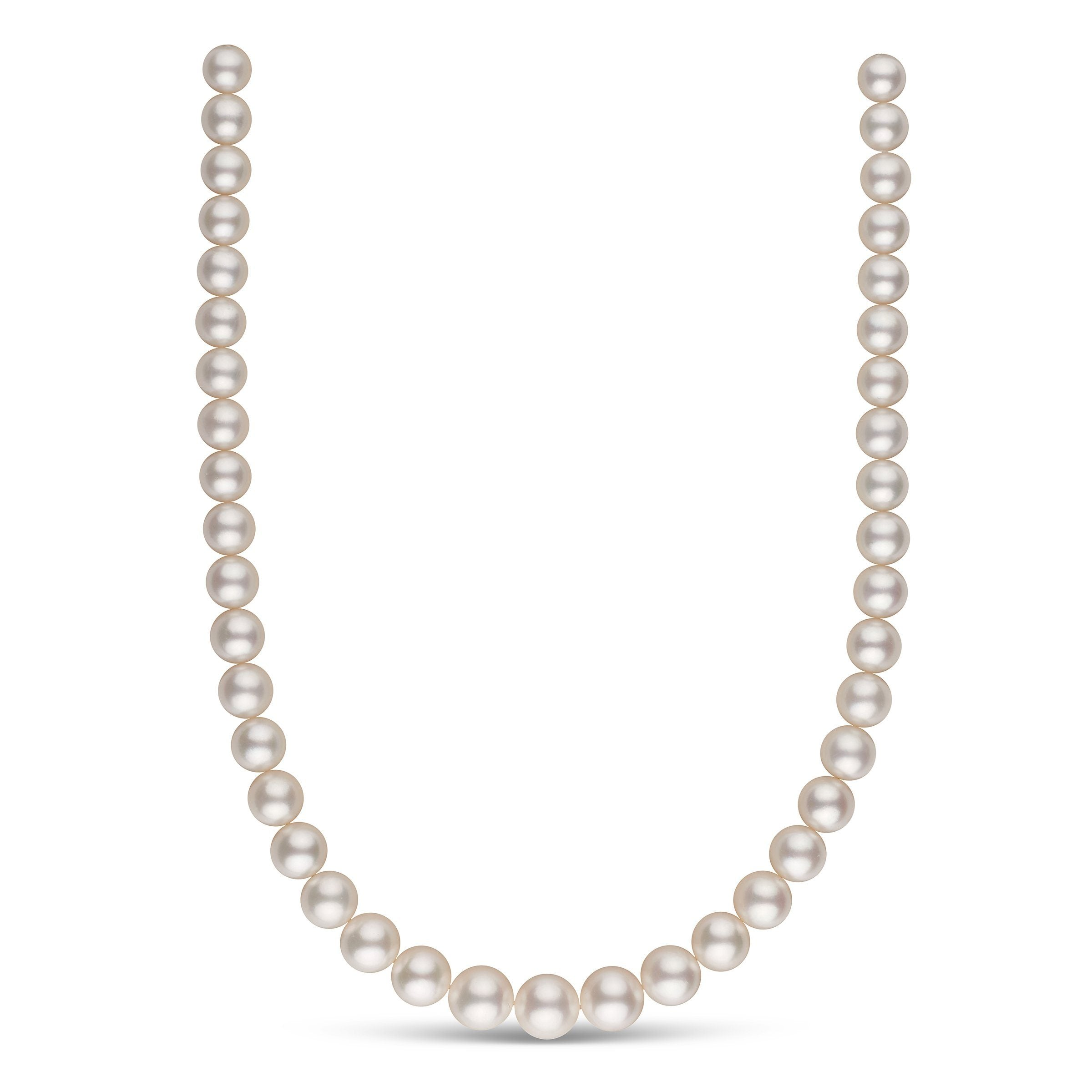 9.0-11.9 mm AA+/AAA White South Sea Round Pearl Necklace