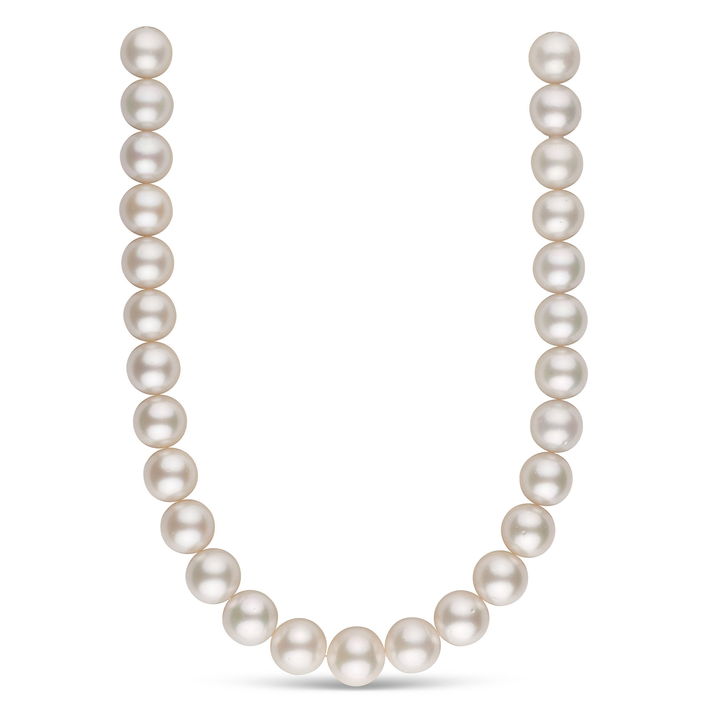 15.0-16.9 mm AA White South Sea Round Pearl Necklace