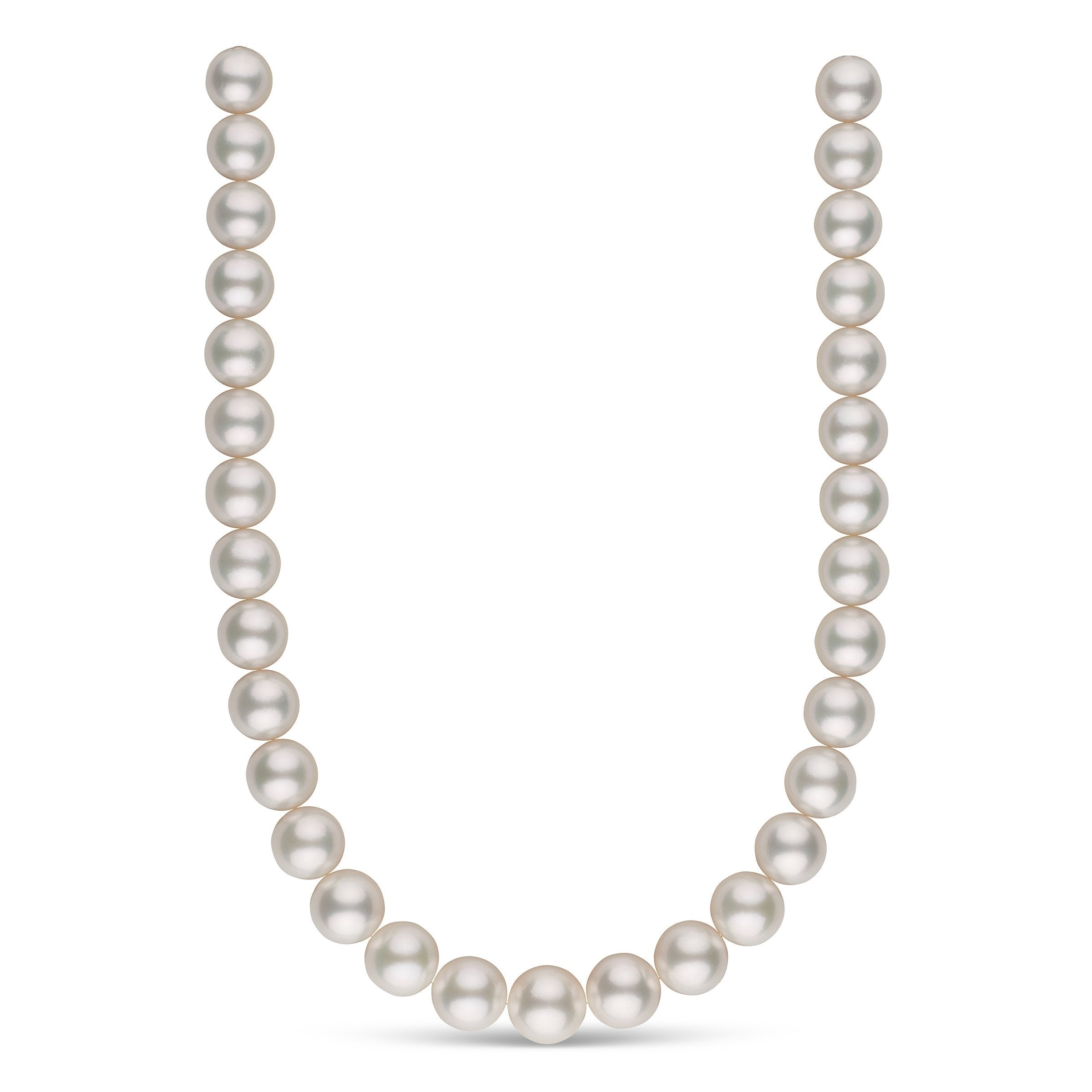 13.0-15.0 mm AAA White South Sea Round Pearl Necklace