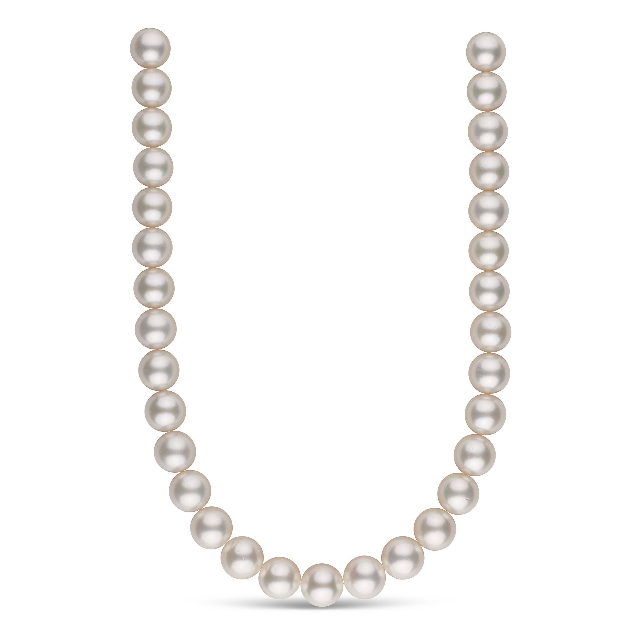 14.0-15.0 mm AA+/AAA White South Sea Round Pearl Necklace