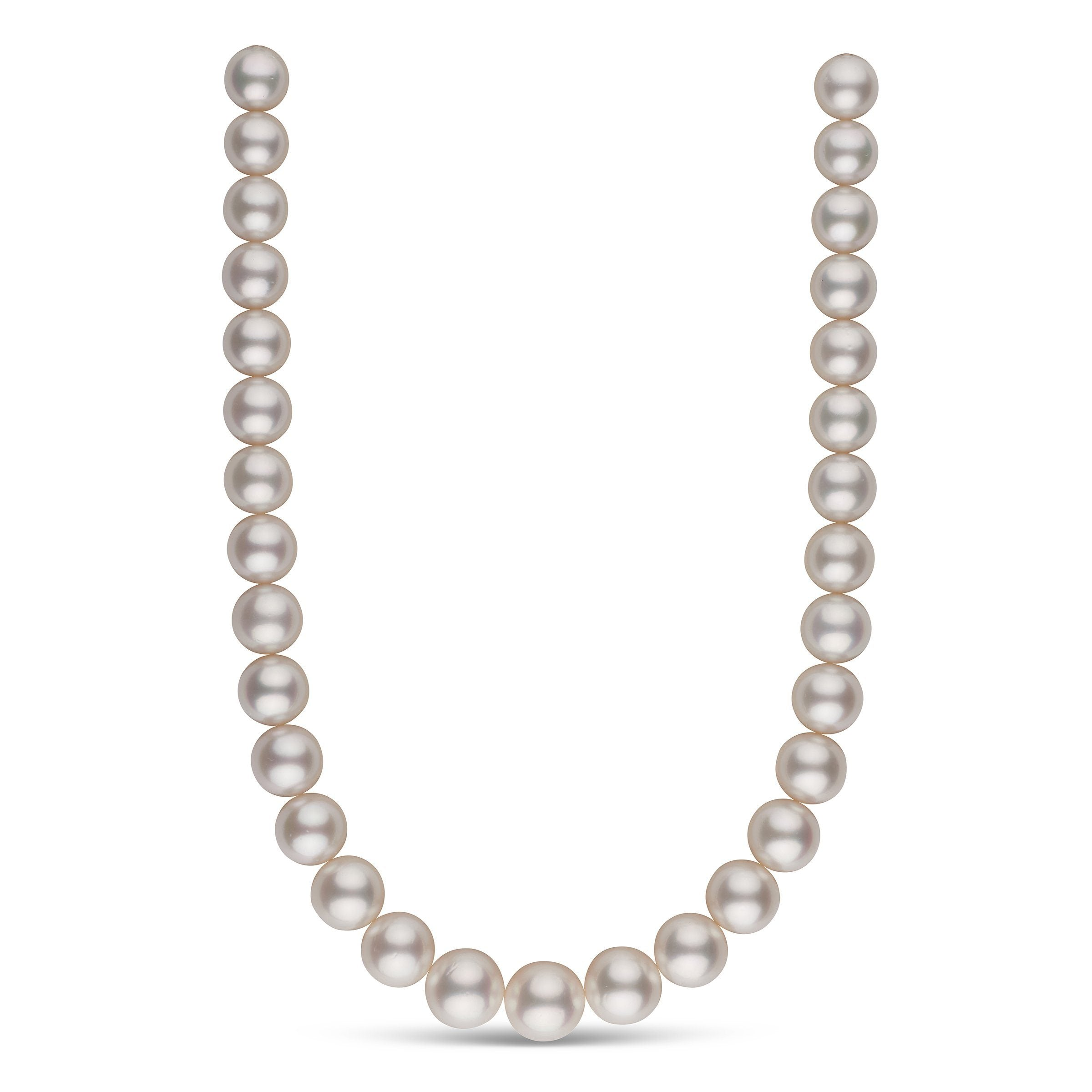 13.0-16.0 mm AA+/AAA White South Sea Round Pearl Necklace