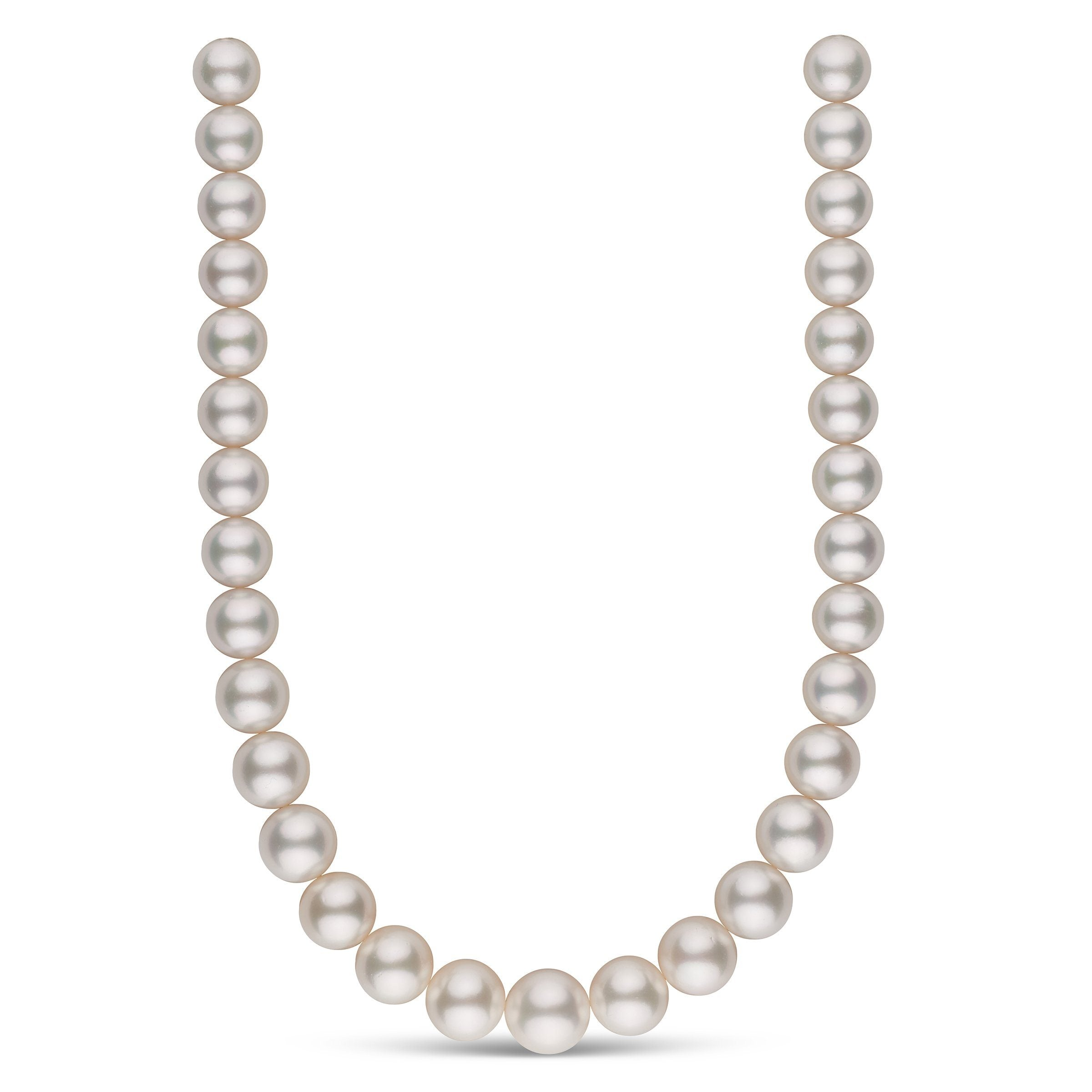 13.0-16.2 mm AA+/AAA White South Sea Round Pearl Necklace