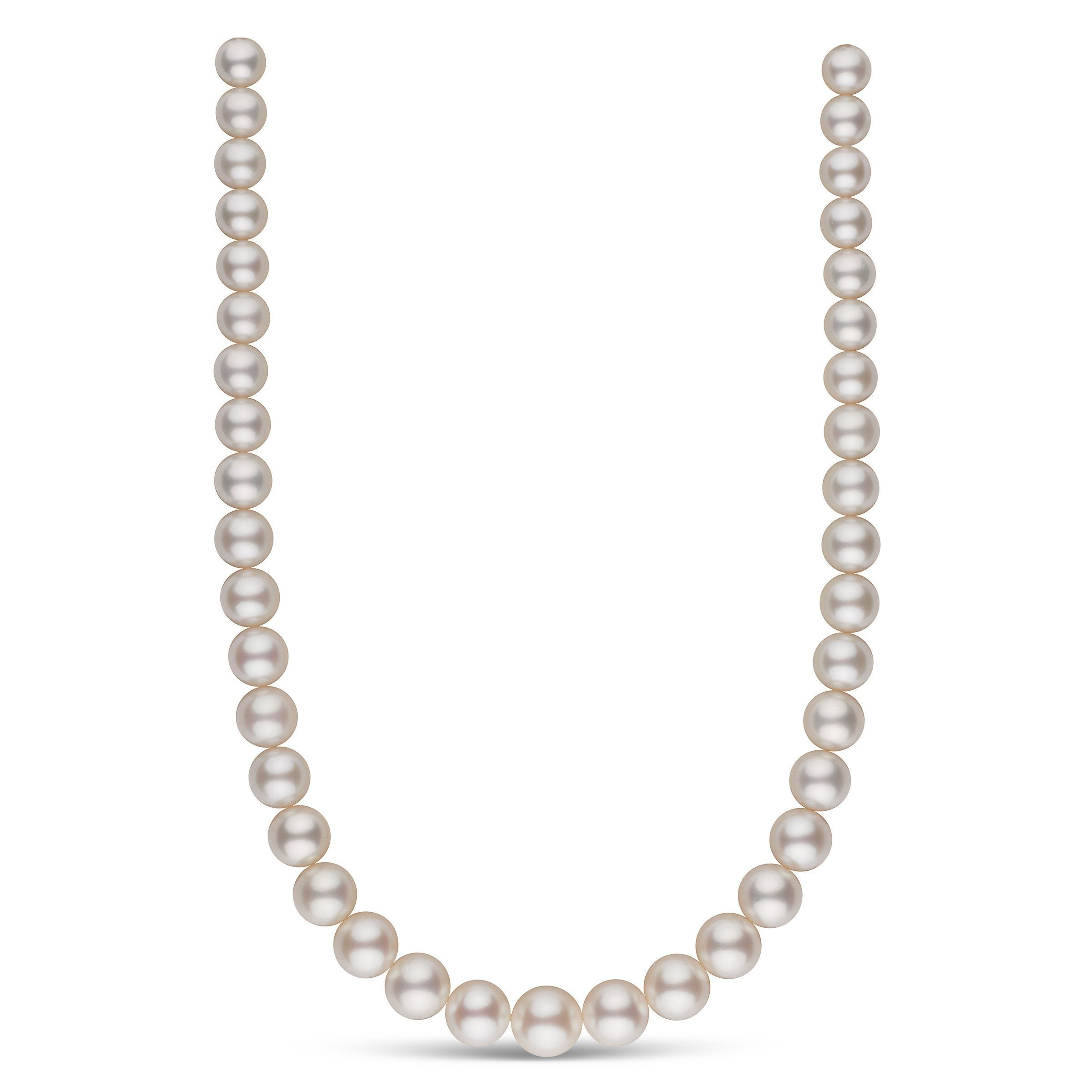10.0-13.8 mm AA+/AAA White South Sea Round Pearl Necklace