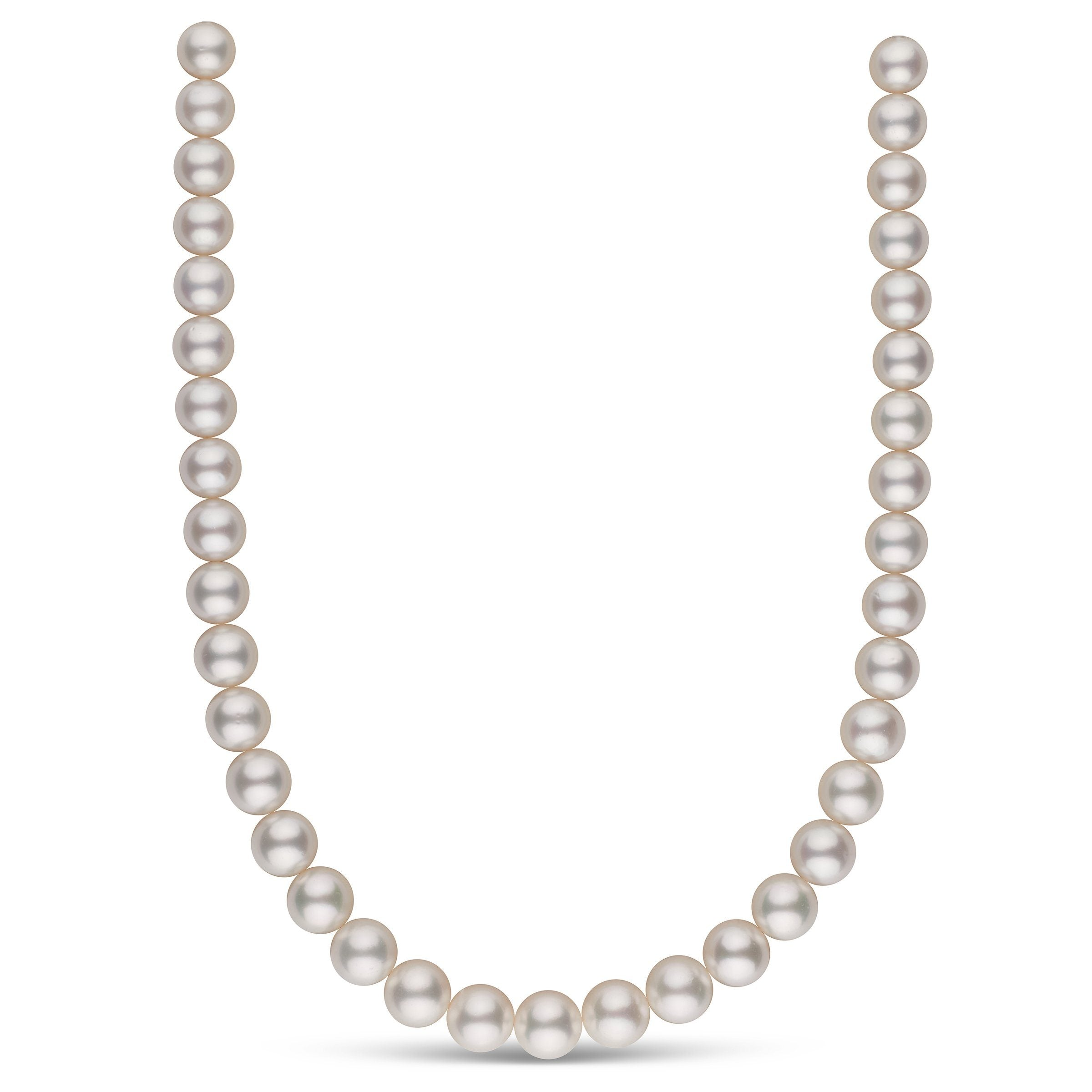 10.0-11.8 mm AA+/AAA White South Sea Round Pearl Necklace