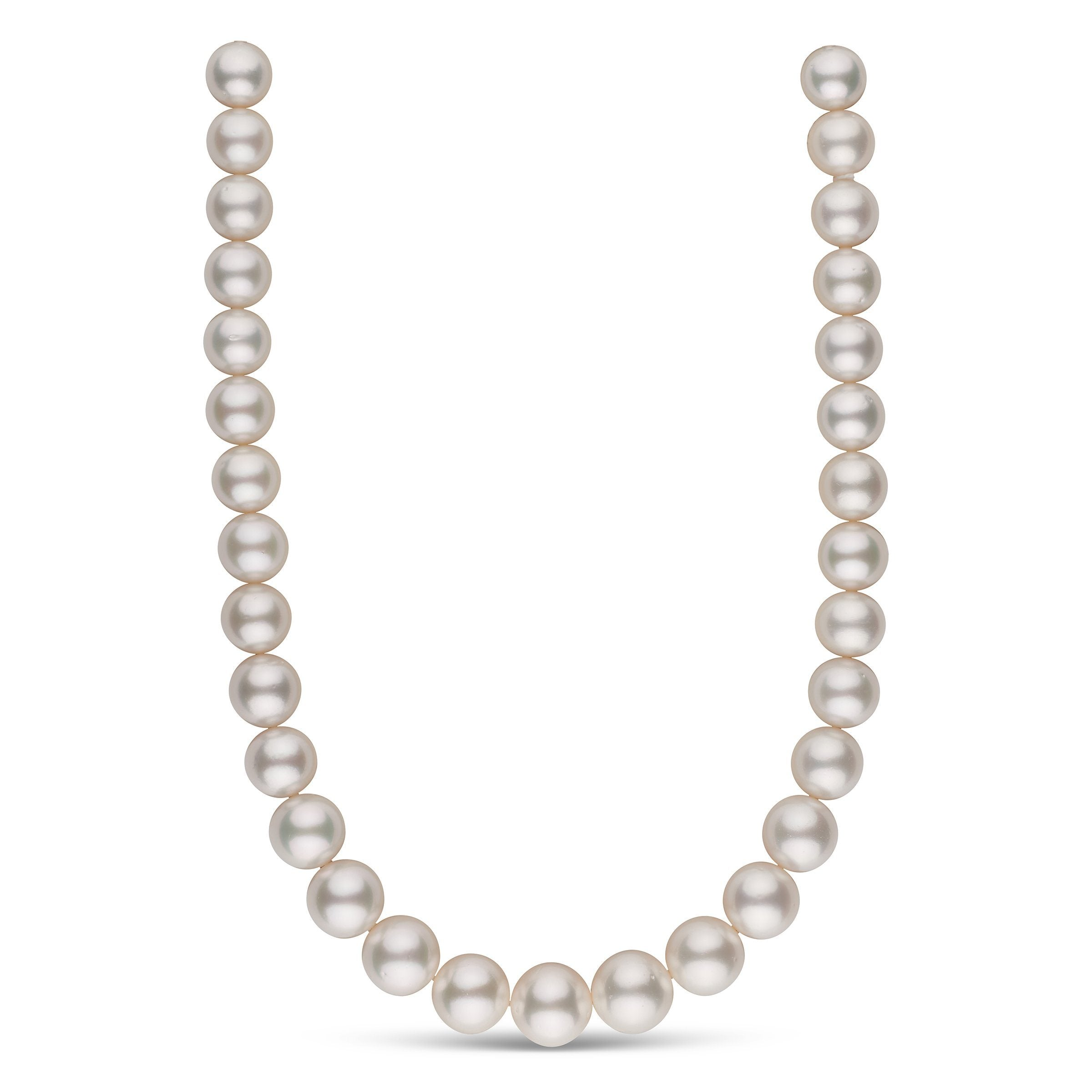 13.0-16.1 mm AA+ White South Sea Round Pearl Necklace