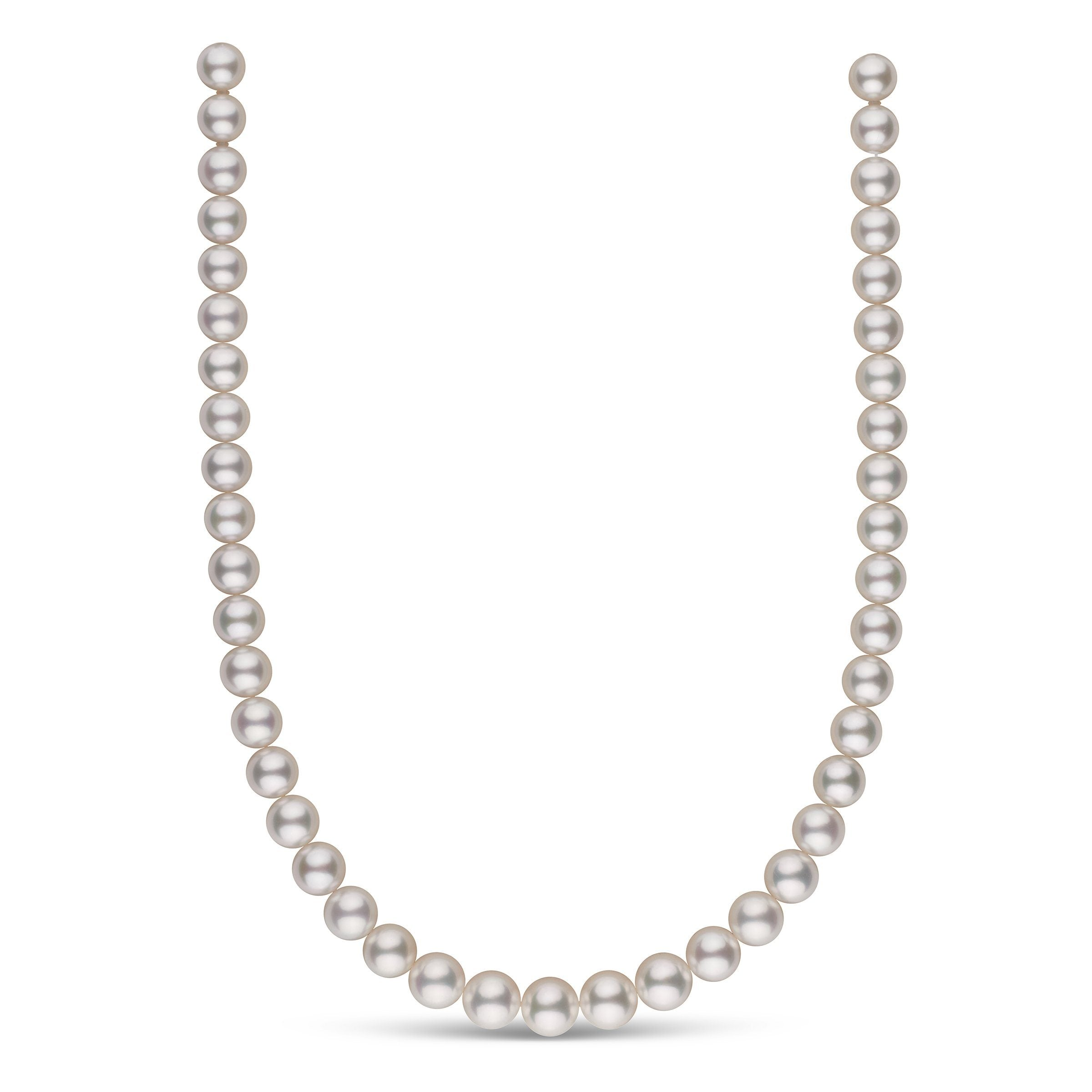 9.0-10.9 mm AAA White South Sea Round Pearl Necklace
